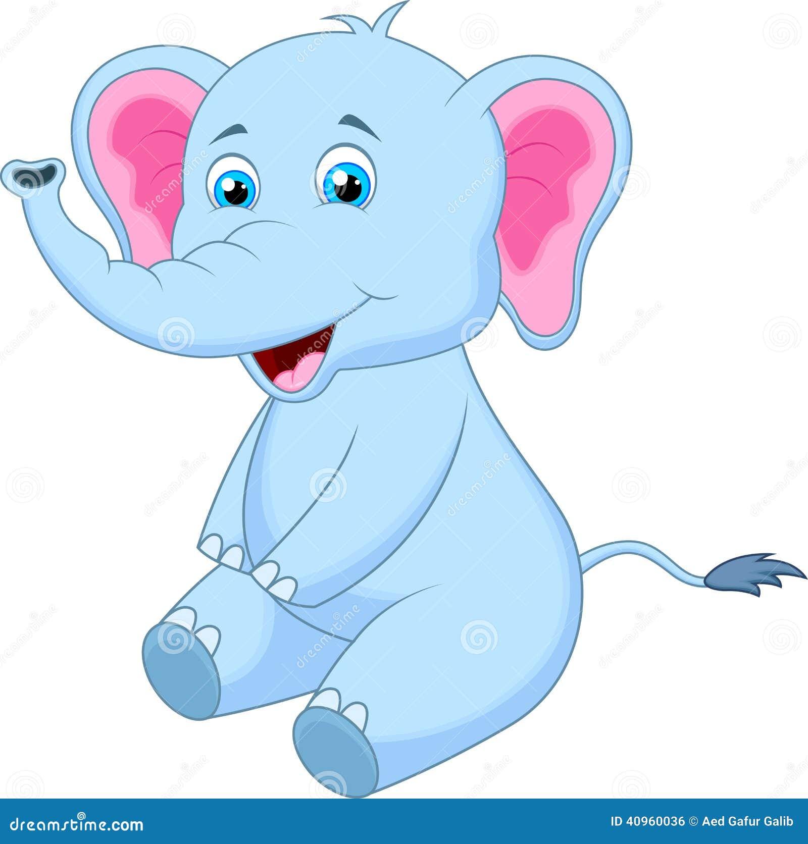 Dessin anim mignon d 39 l phant illustration de vecteur - Elephant image dessin ...