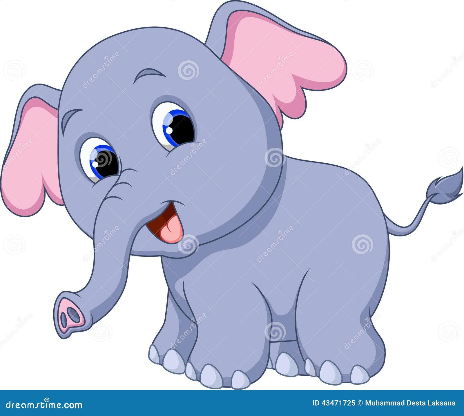Dessin anim mignon d 39 l phant illustration stock image 43471725 - Dessins d elephants ...