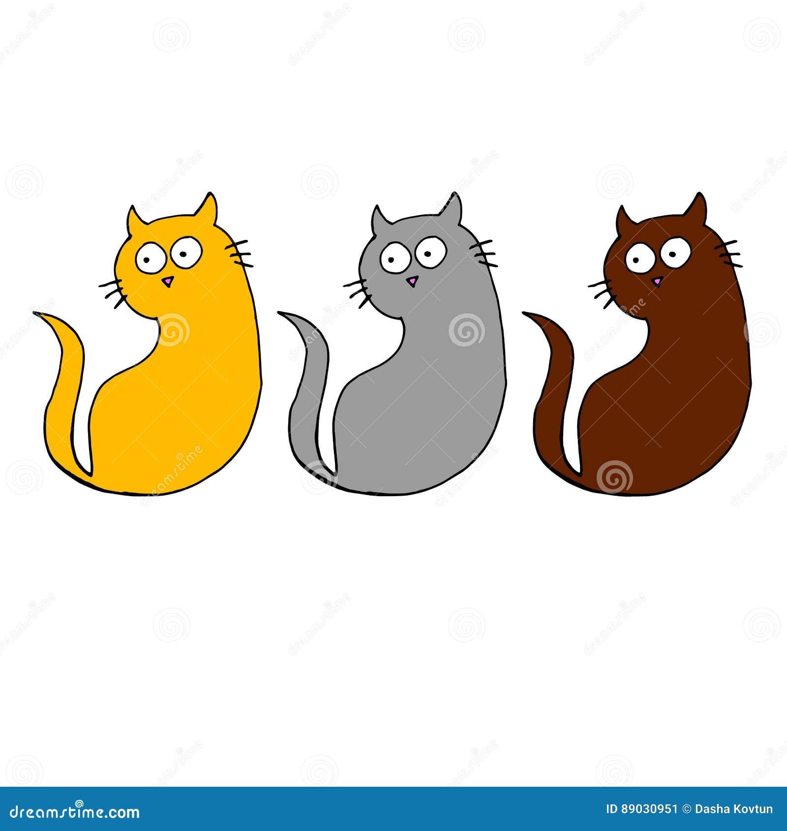 Dessin Animal De Chat Noir De Chaton De Vecteur De Chat