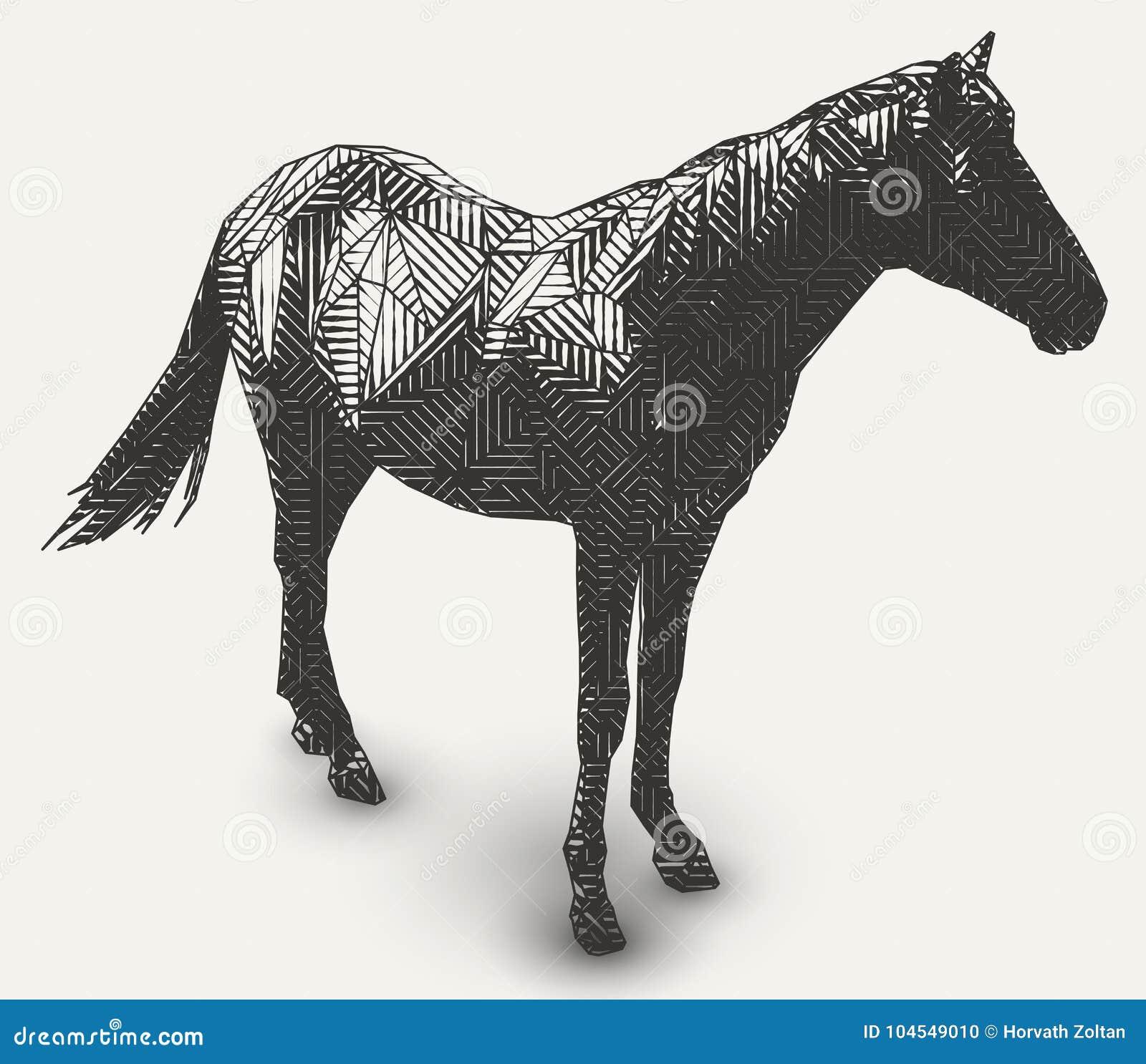 Dessin Animal Geometrique Illustration Stock Illustration Du