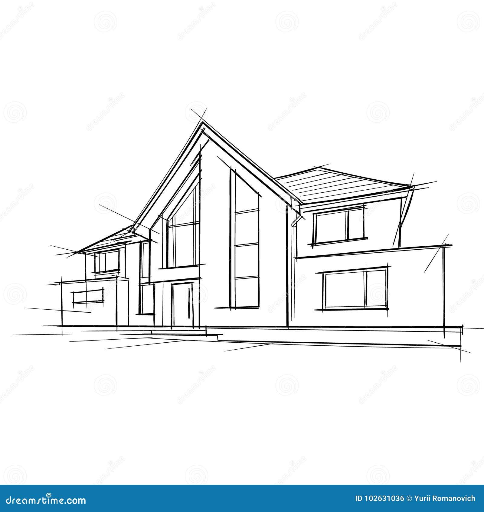 Maison dessin architecture ventana blog - Faire construire une maison d architecte ...