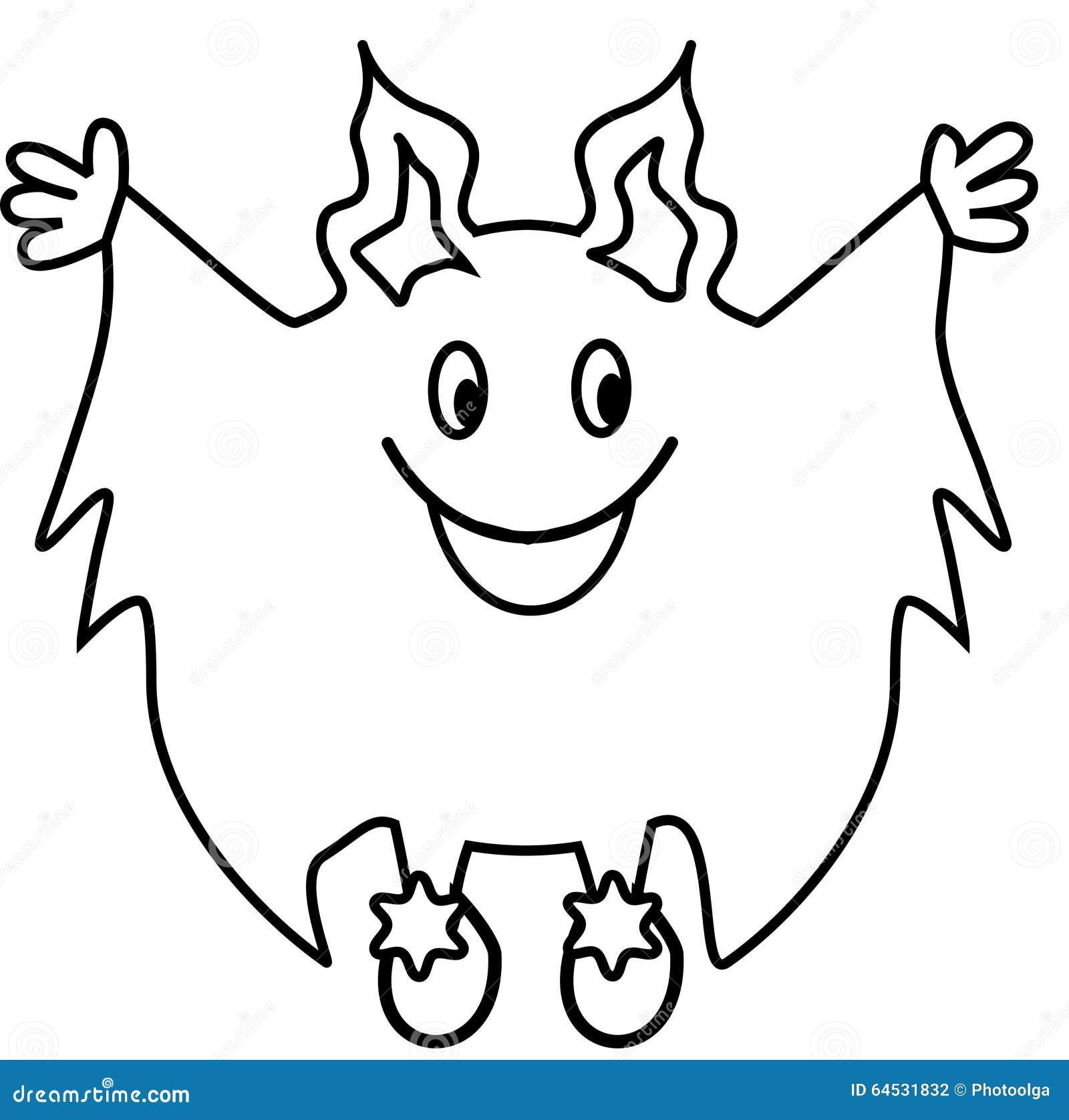 Dessin au trait simple monstre illustration de vecteur - Dessin de monstre ...