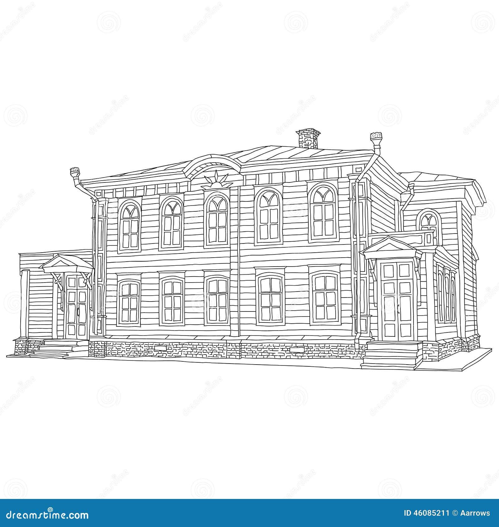 Dessin, Croquis D\'une Maison Illustration de Vecteur - Illustration ...