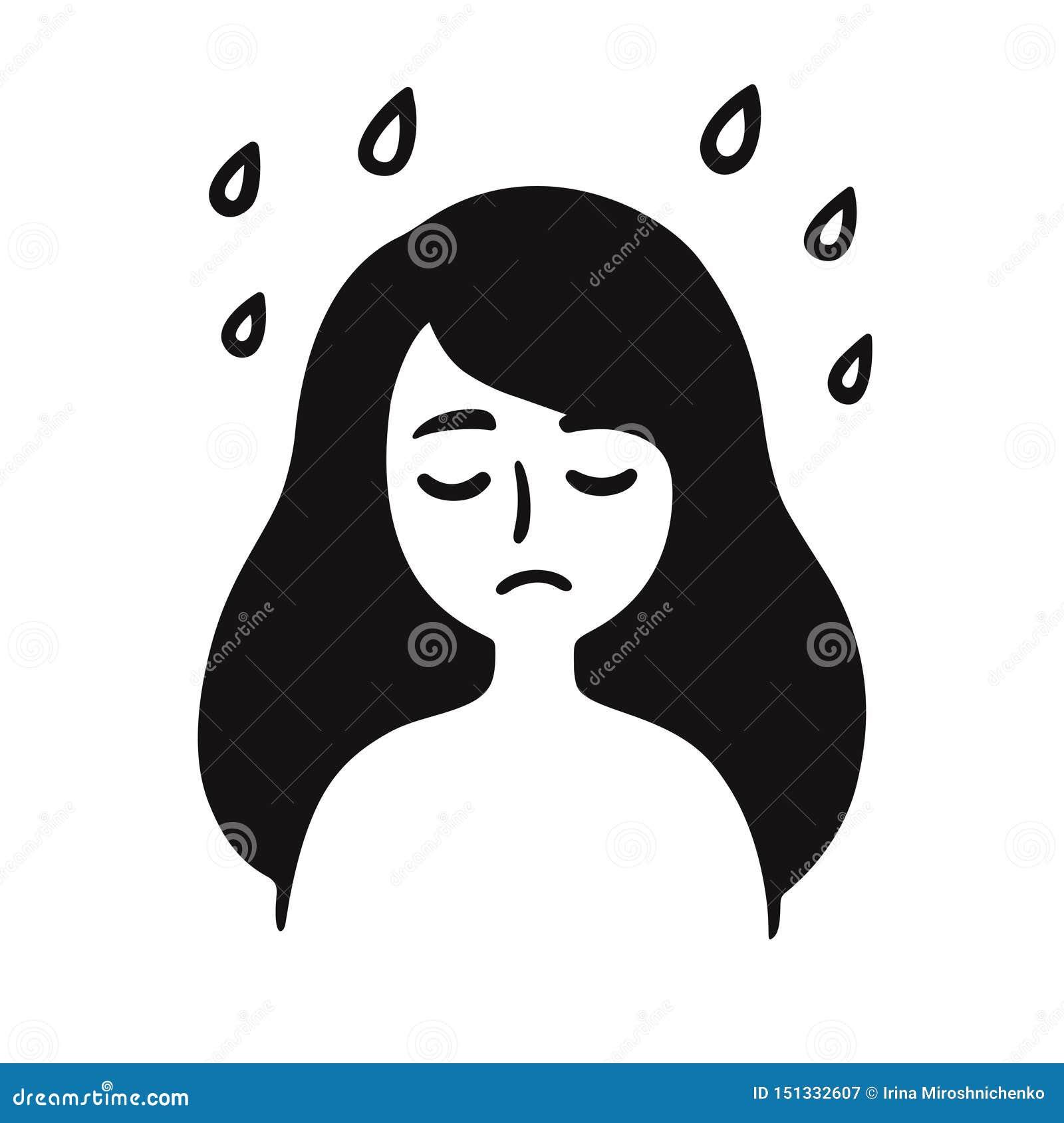 Dessin Facile Fille Triste