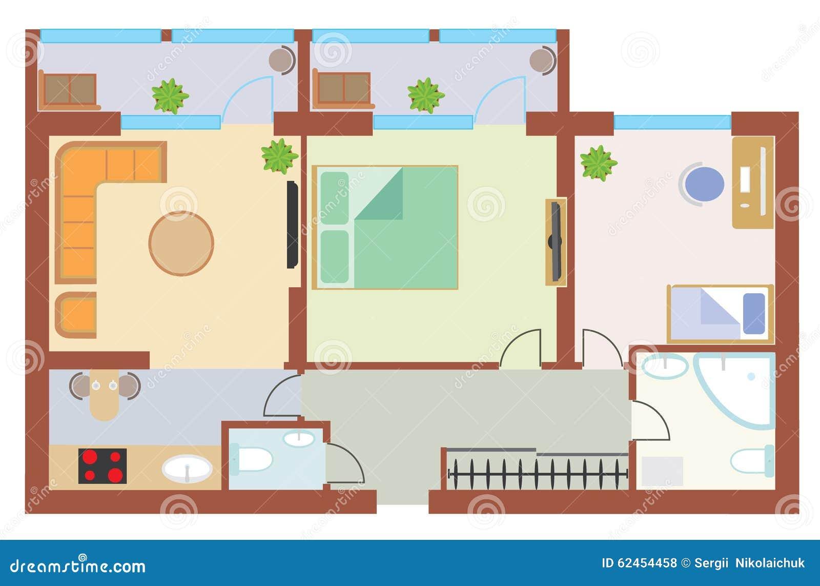 plan appartement dessiner