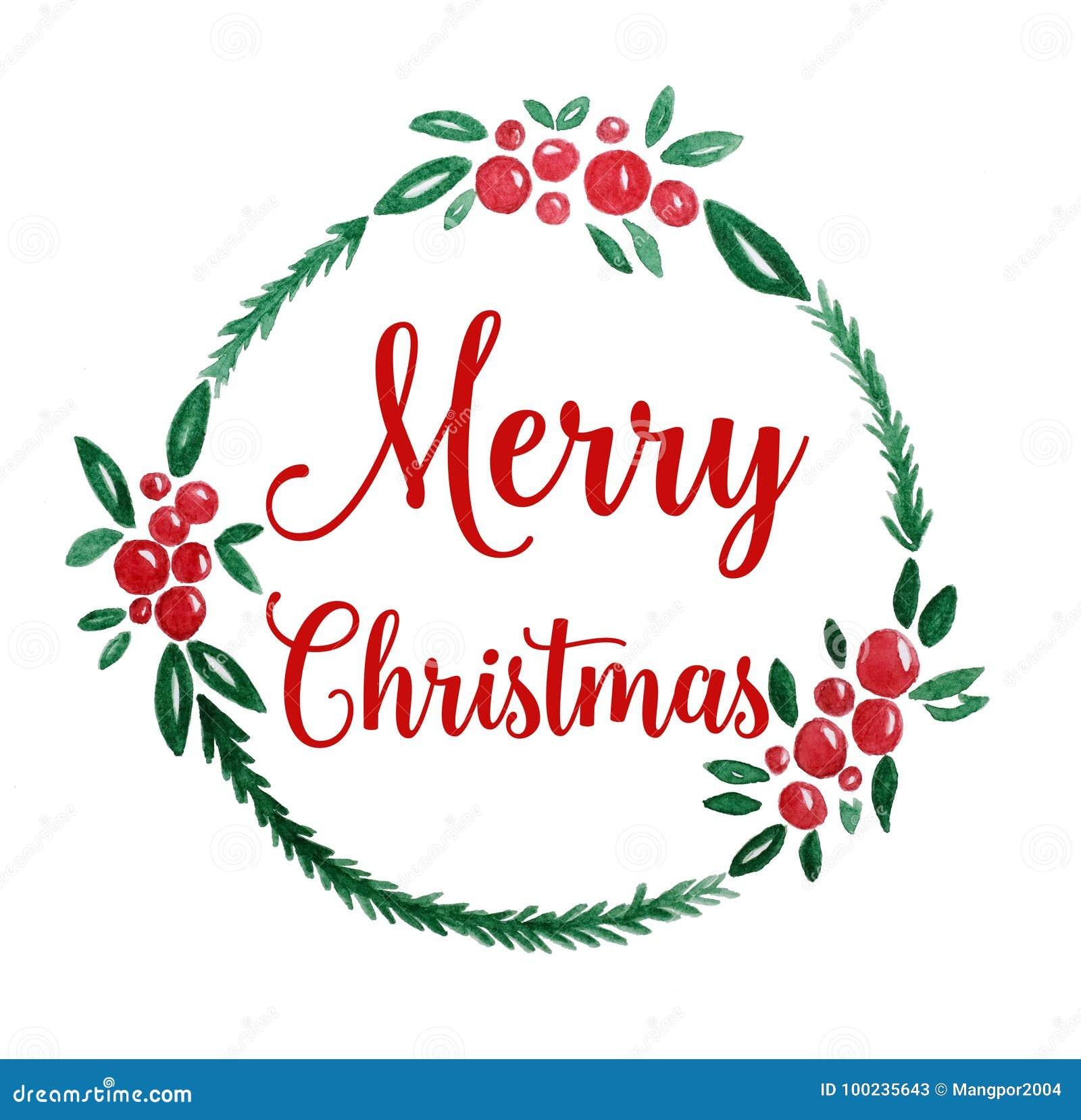 Dessin D Aquarelle De Guirlande De Joyeux Noel Sur Le Livre Blanc