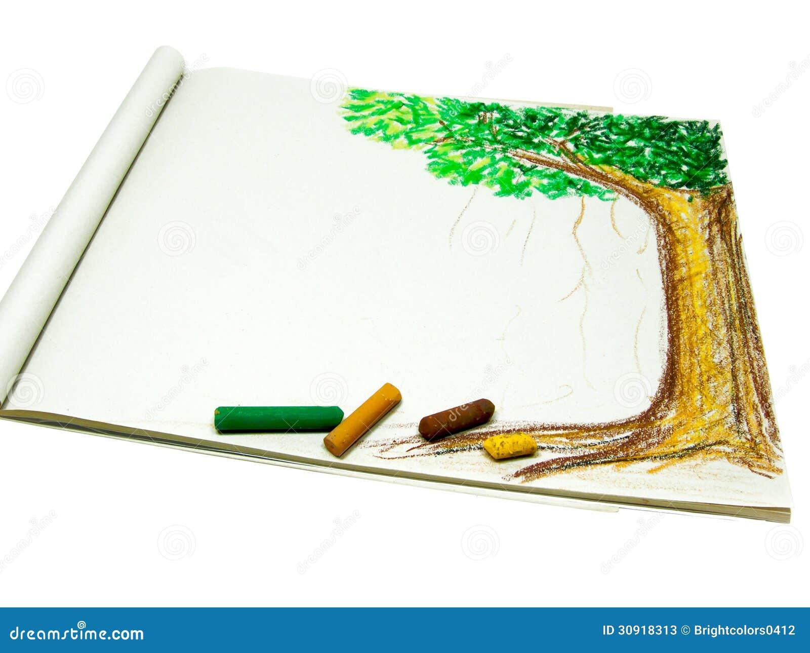 Dessin d 39 arbre avec le crayon image stock image 30918313 - Dessins d arbre ...