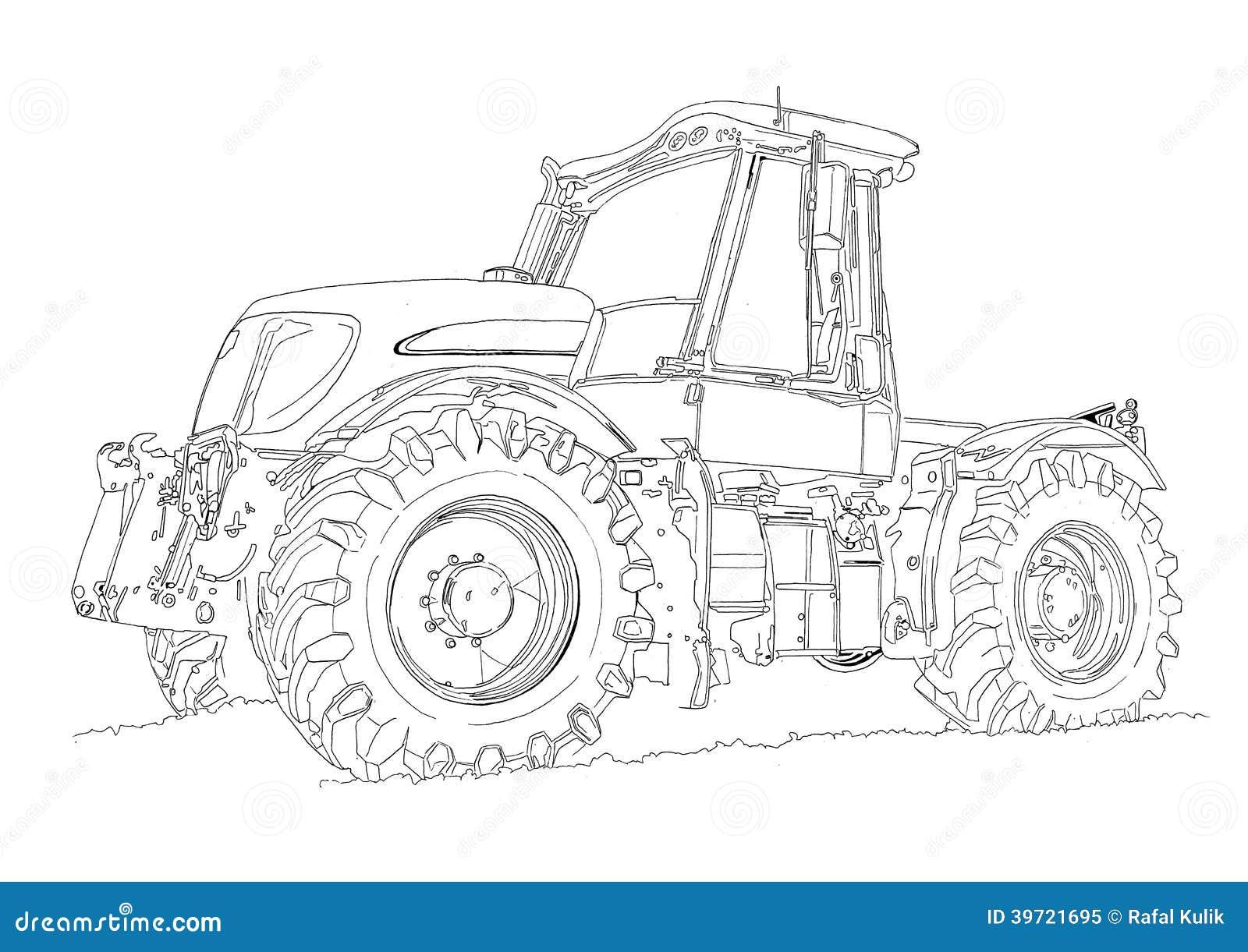 Afbeelding Tractor John Deere Kleurplaat Dessin D Art D Illustration De Tracteur Agricole