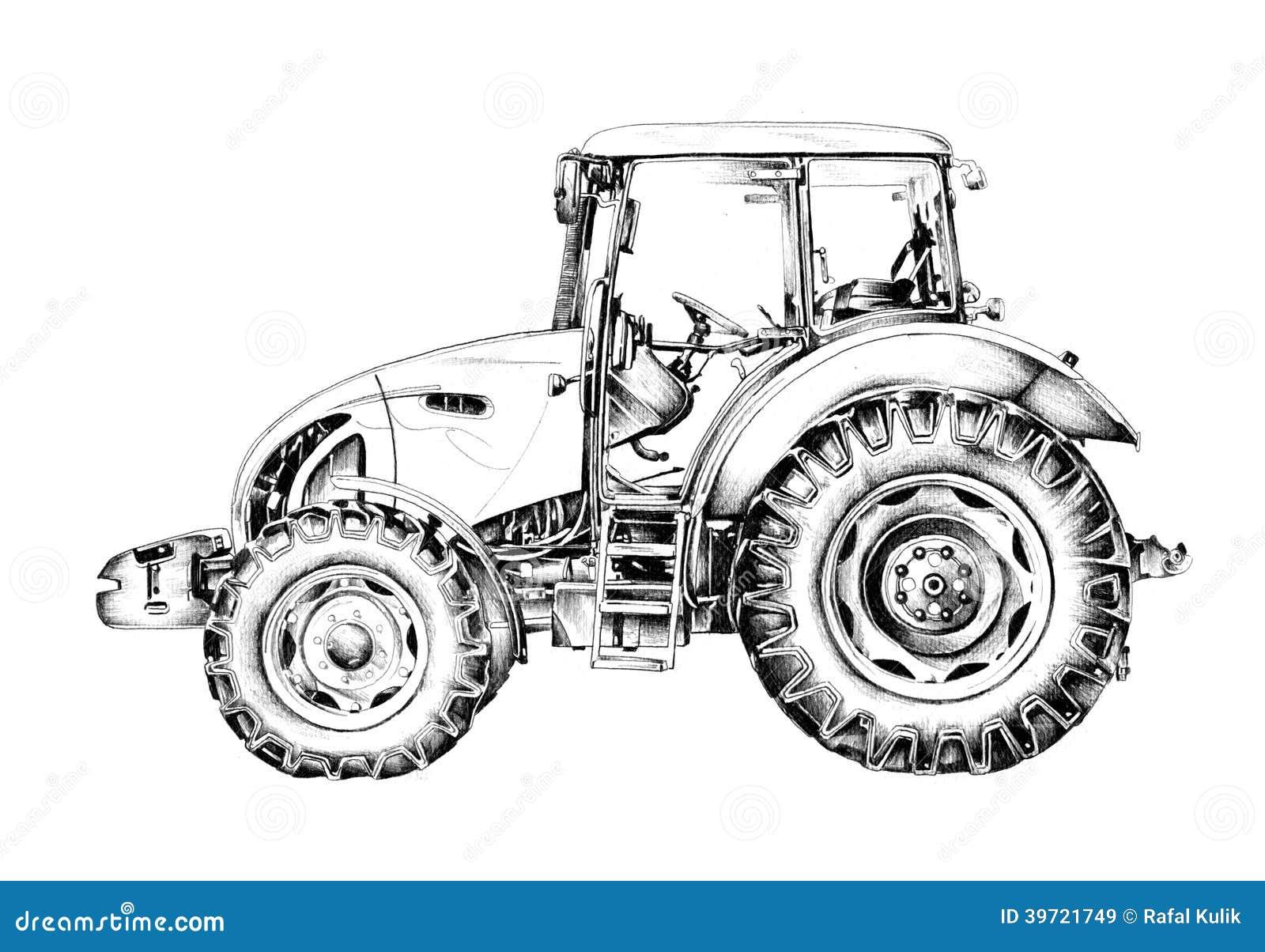 Bien-aimé Dessin D'art D'illustration De Tracteur Agricole Illustration  PC61