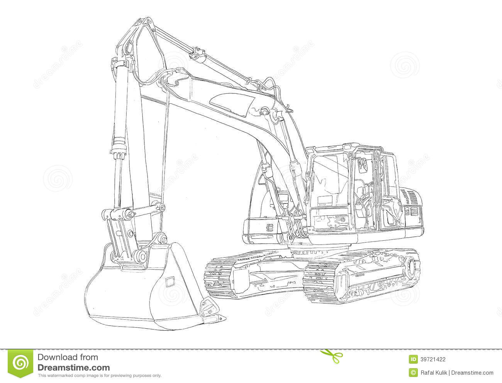 Kleurplaat Ford Tractor Dessin D Art D Isolement Par Illustration D Excavatrice