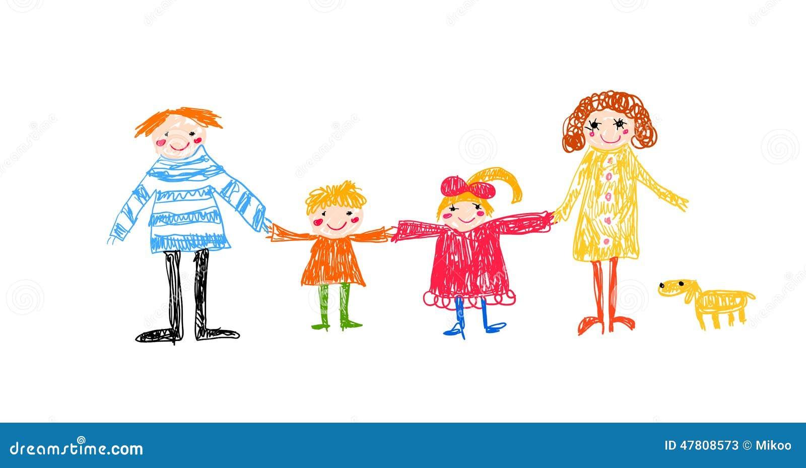 Industrial House Plans Dessin D Enfant De Famille Illustration De Vecteur Image
