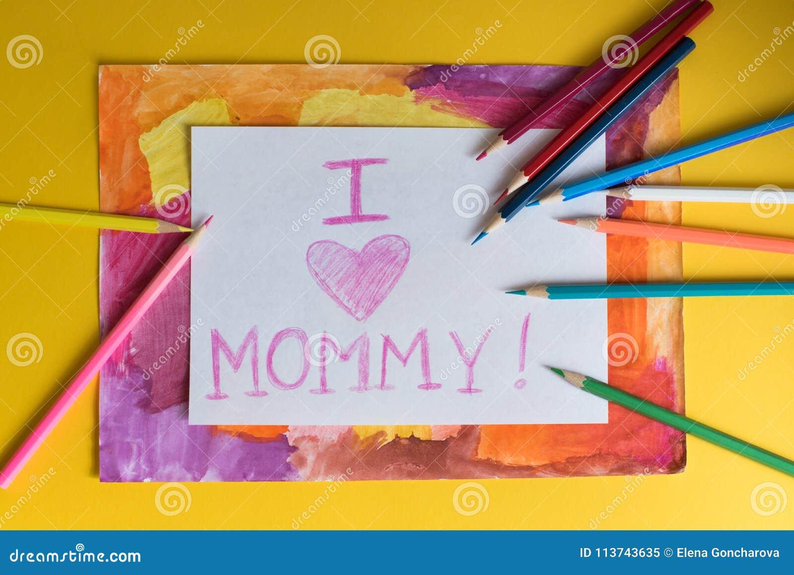 Dessin D Enfant Pour La Maman Image Stock Image Du Coloré