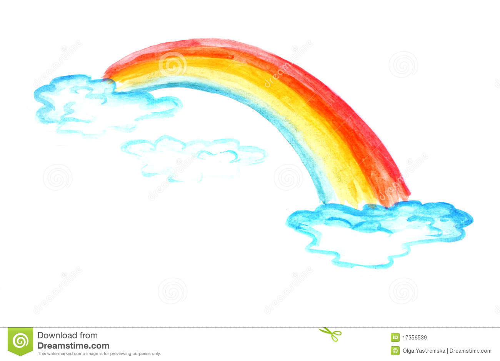 Dessin d 39 enfants d 39 un arc en ciel image stock image du - Dessin arc en ciel ...