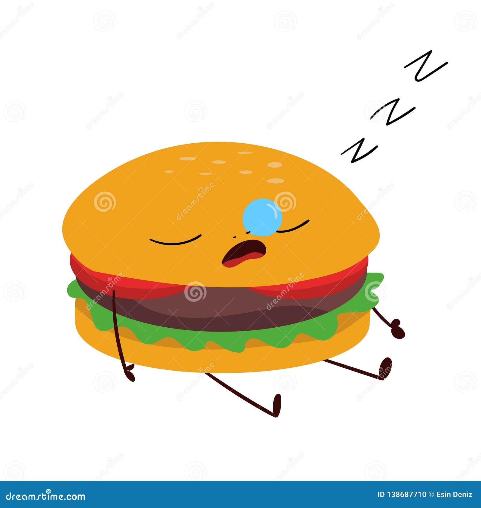 Dessin D Hamburger D Amusement Fond De Bande Dessinee De Concept De Nourriture Illustration Stock Illustration Du Bande Dessin 138687710