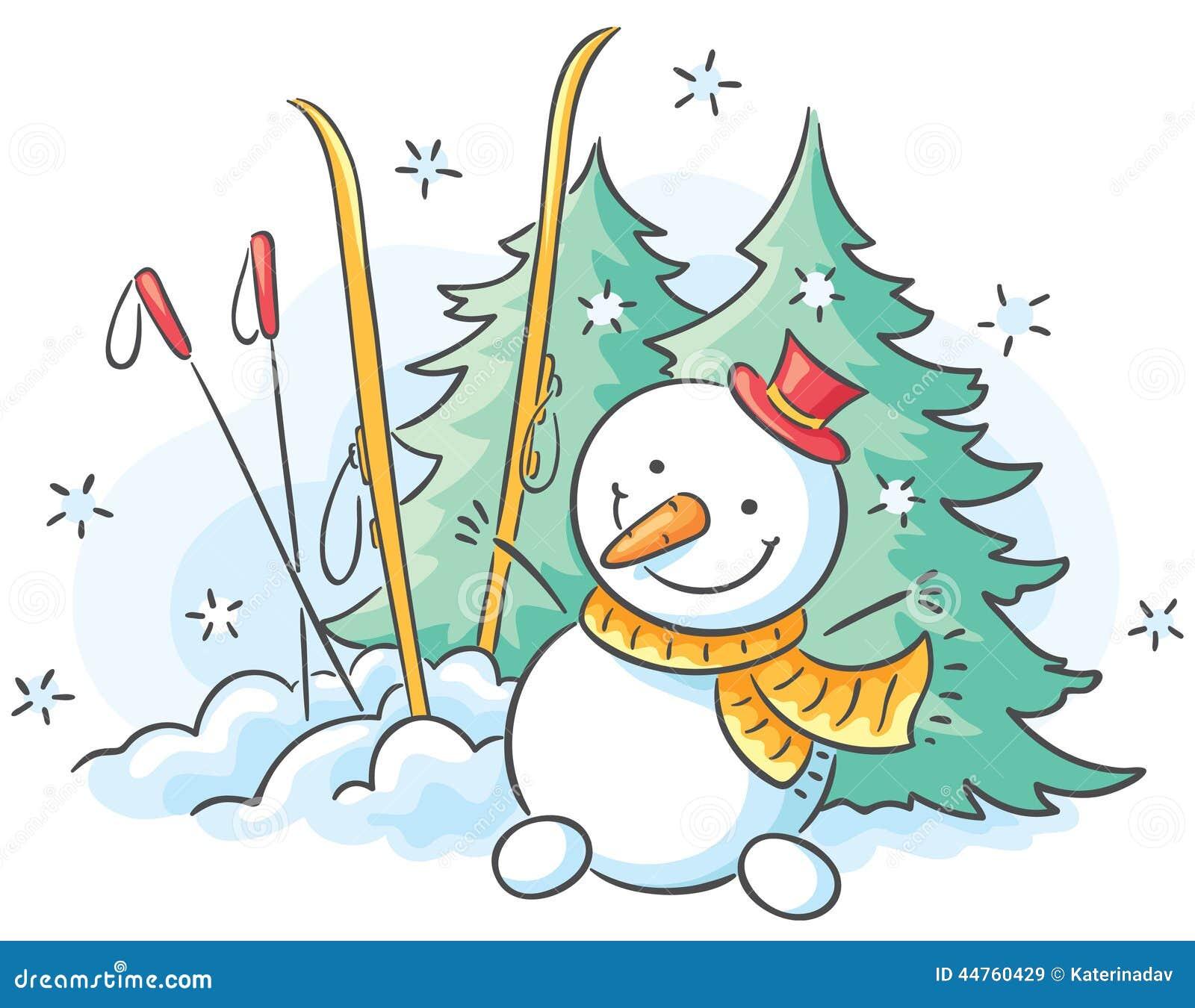 Hiver Dessin dessin d'hiver illustration de vecteur. illustration du saison