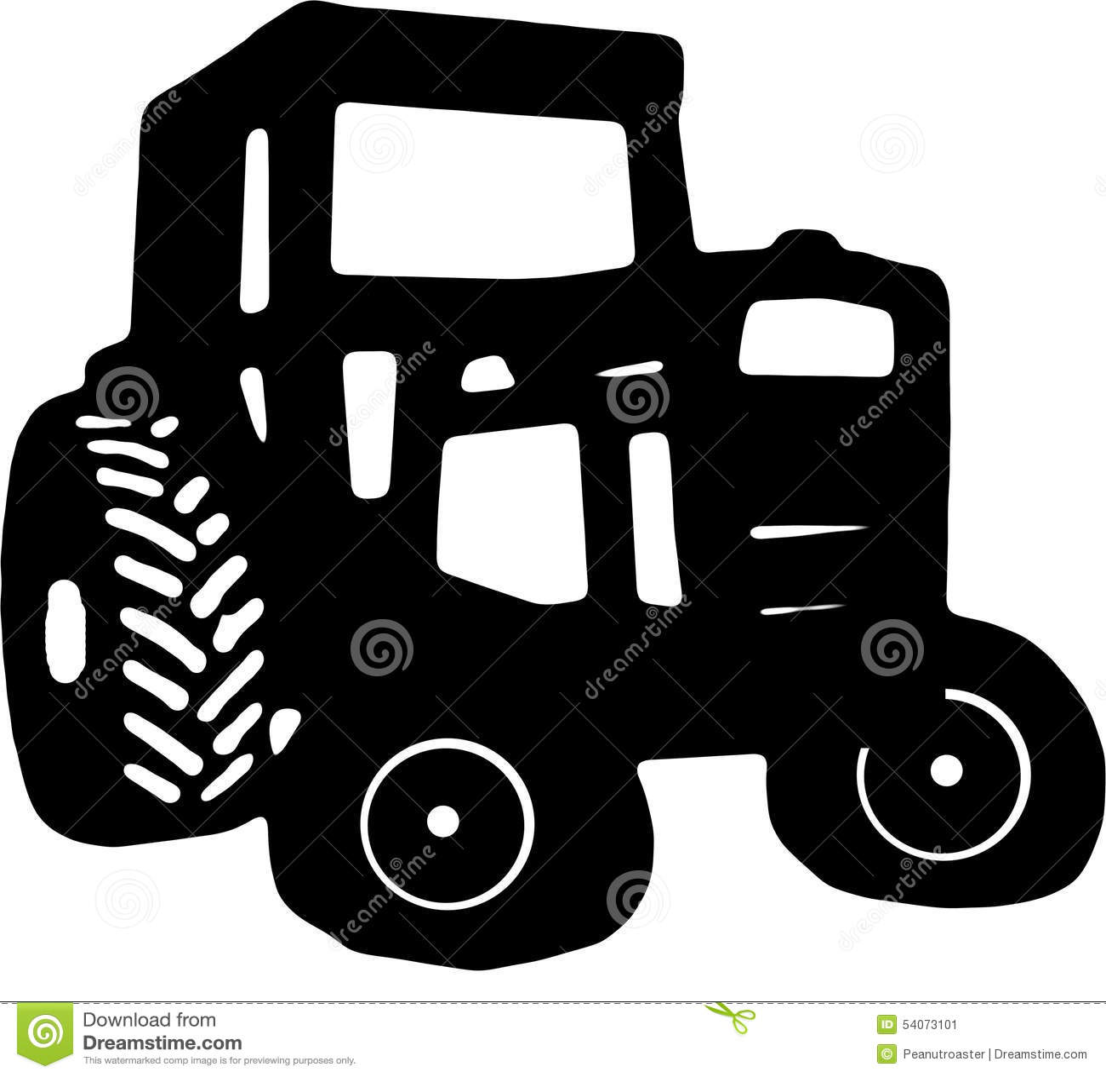 Dessin d 39 ic ne de tracteur illustration stock - Dessin d un tracteur ...