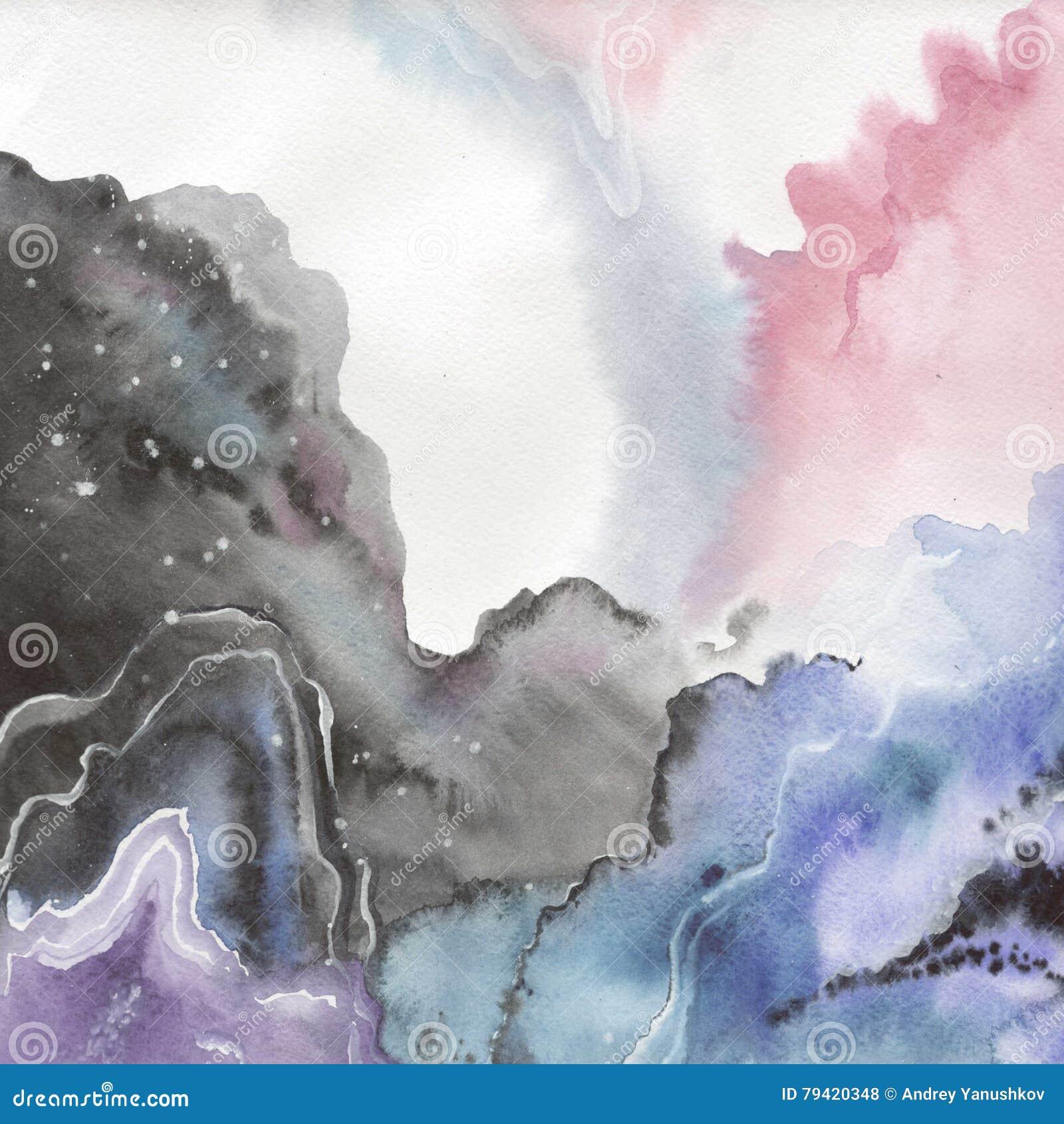 Dessin d isolement par formes abstraites d éclaboussure de papier d aquarelle