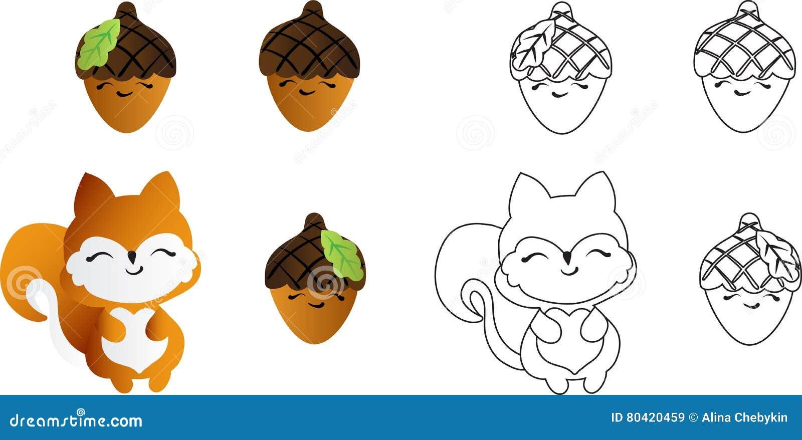 Dessin D Un écureuil Rouge Illustration De Vecteur