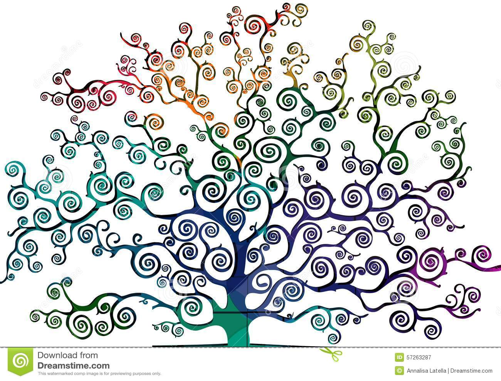 dessin d 39 un arbre avec le feuillage gribouill illustration stock image 57263287. Black Bedroom Furniture Sets. Home Design Ideas