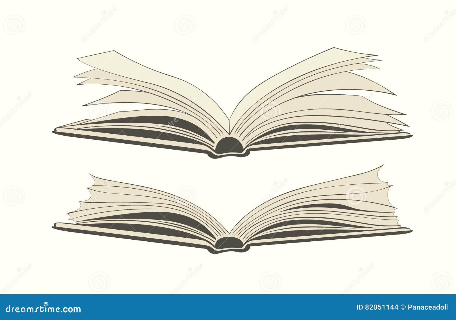 Dessin D Un Livre Ouvert Illustration De Vecteur