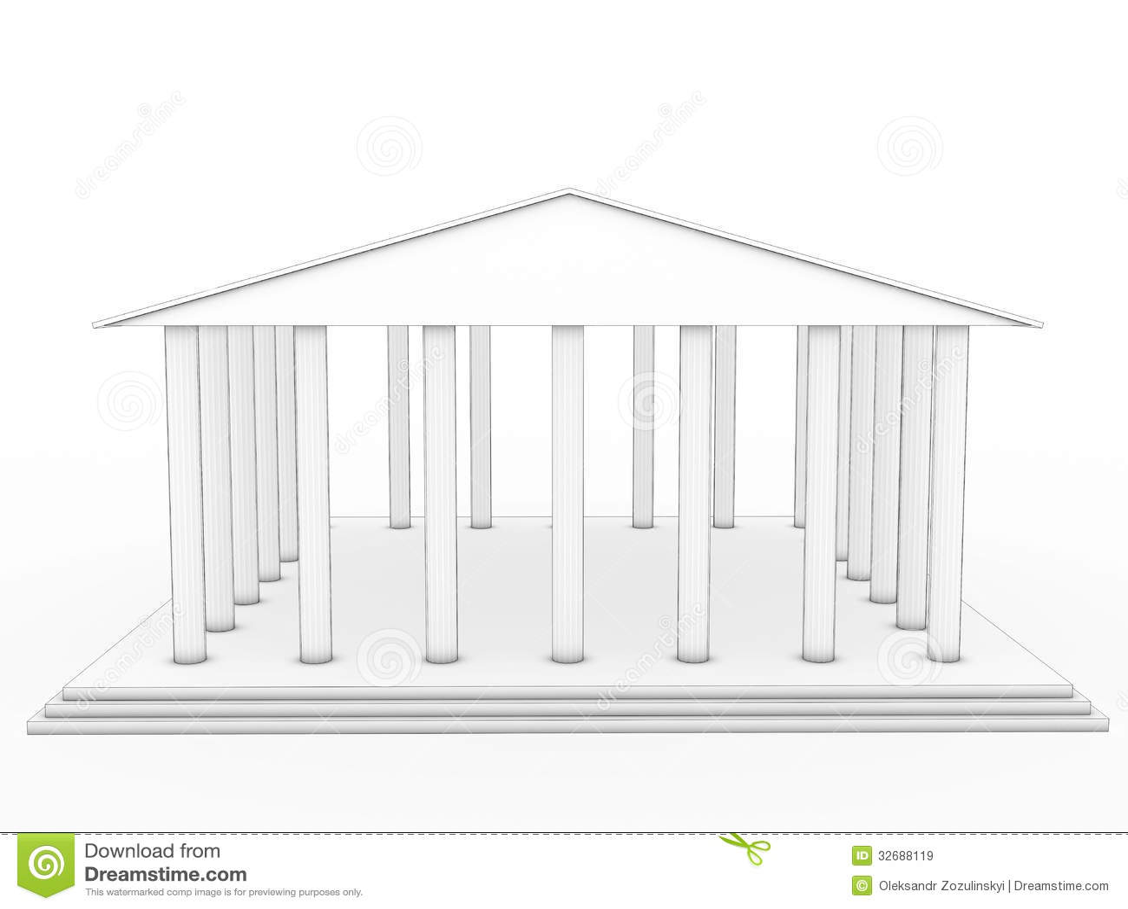 Dessin D 39 Un Temple Grec 2 Illustration Stock