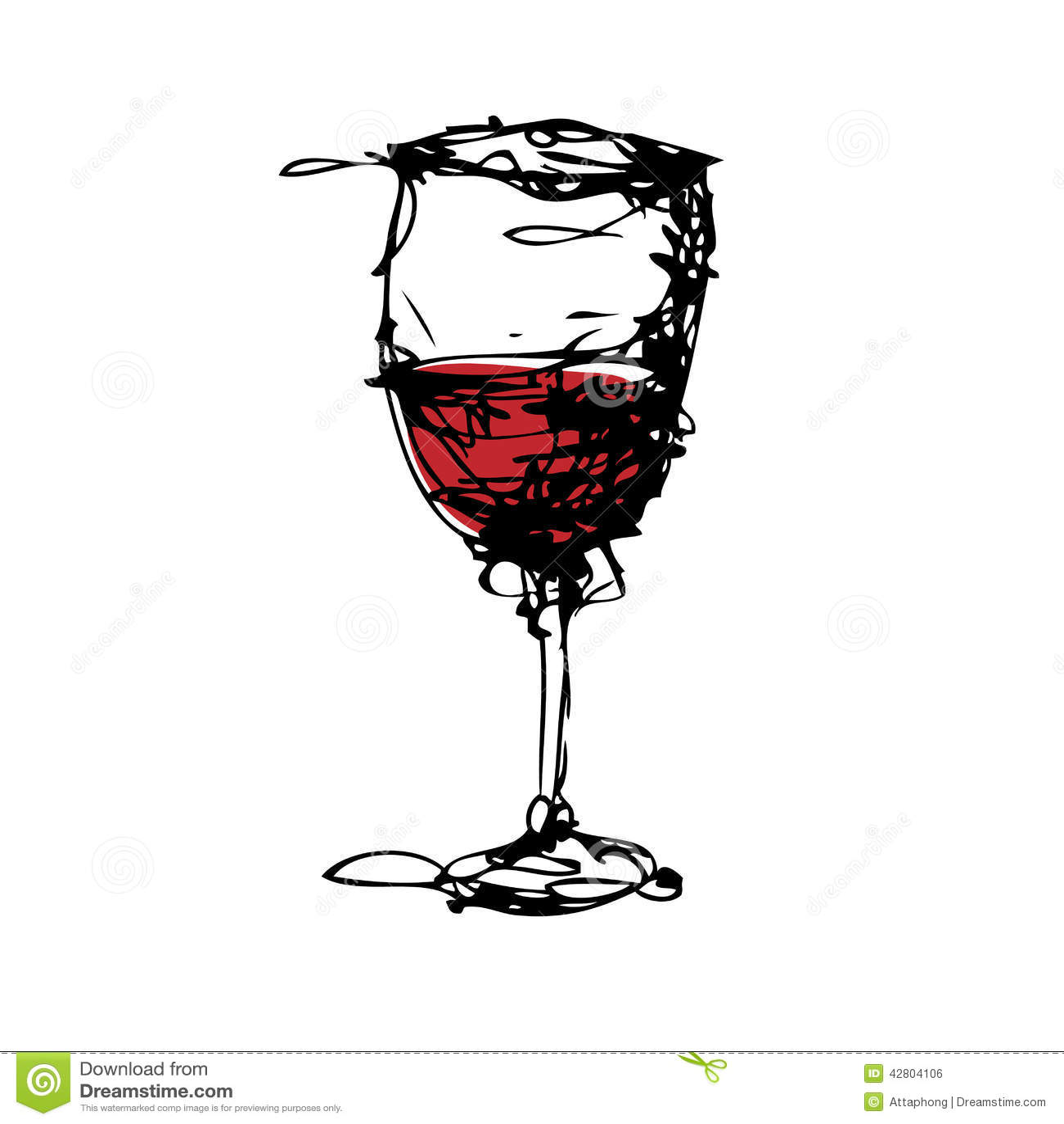 Dessin d 39 un verre de vecteur de vin illustration de - Dessin de verre ...