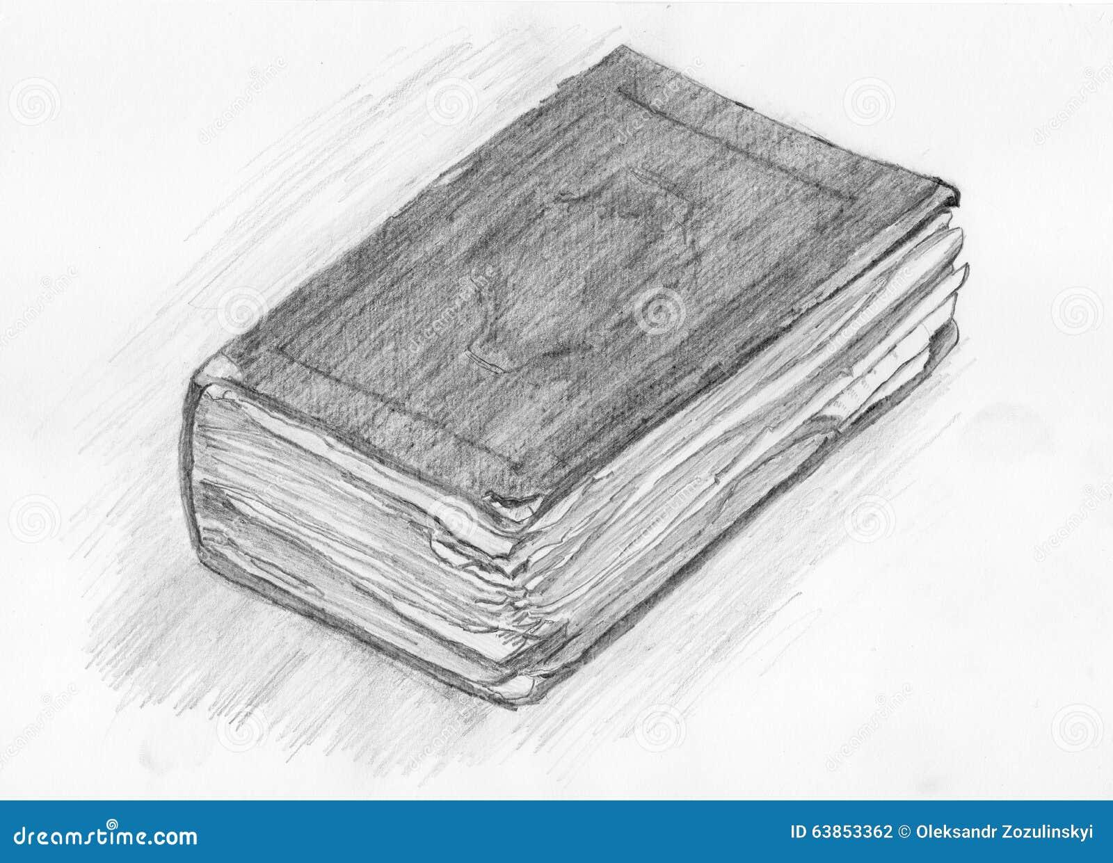 Dessin D Un Livre dessin d'un vieux livre photo stock. image du attraction - 63853362