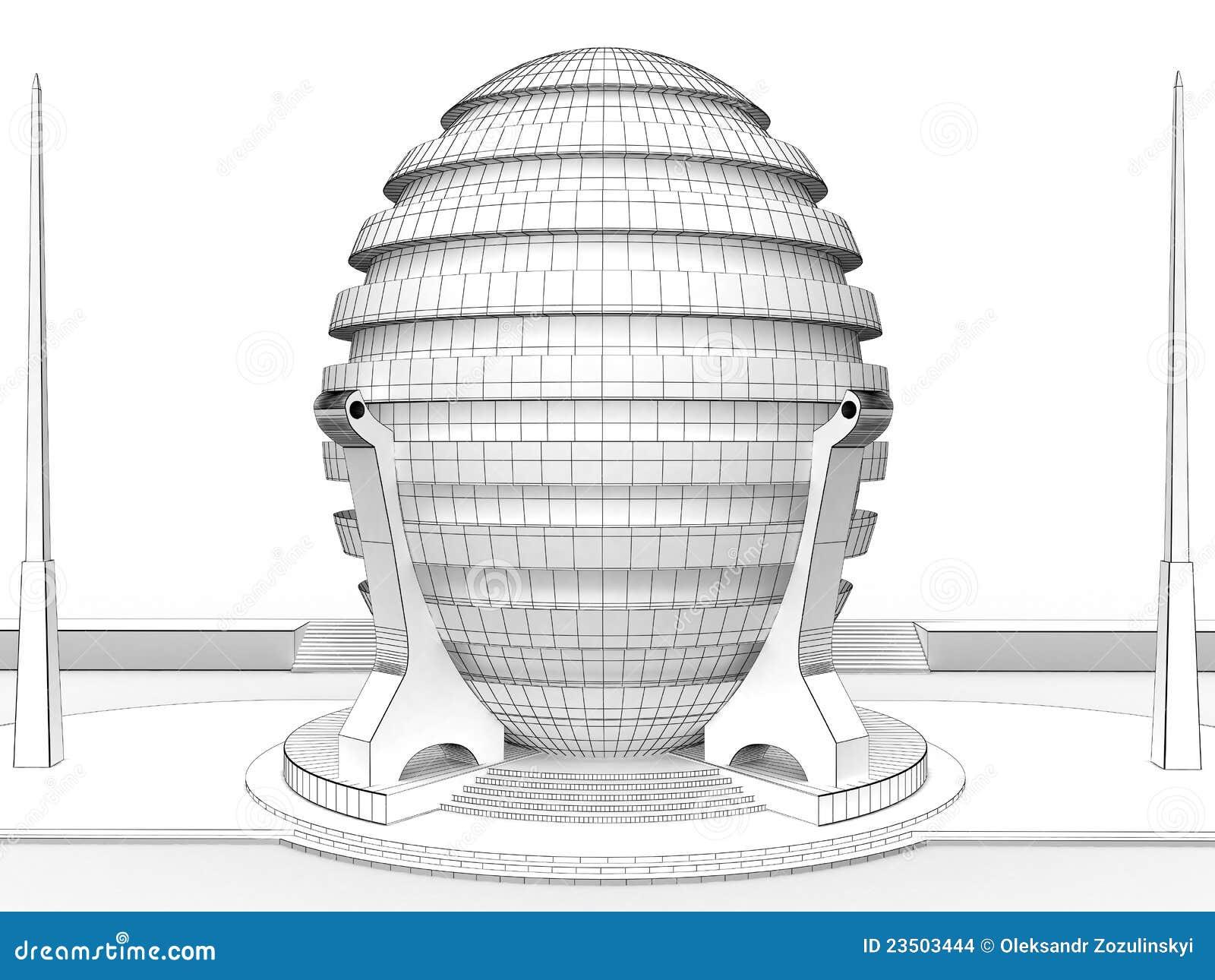 Dessin d 39 une maison ronde 3 images stock image 23503444 for Construire une maison ronde