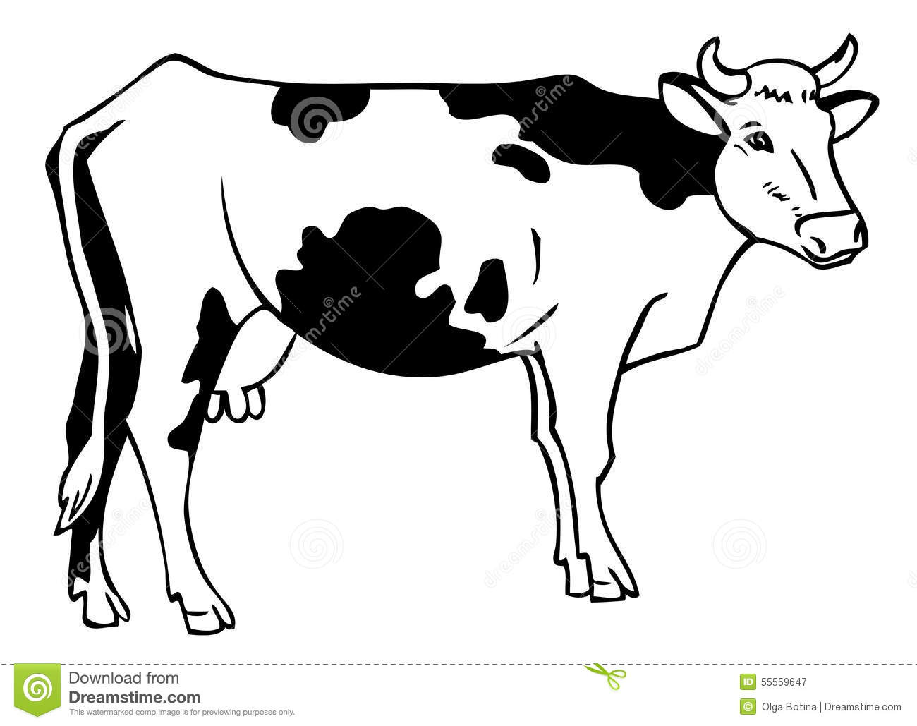 Dessin d 39 une vache illustration de vecteur illustration - Dessin d une vache ...