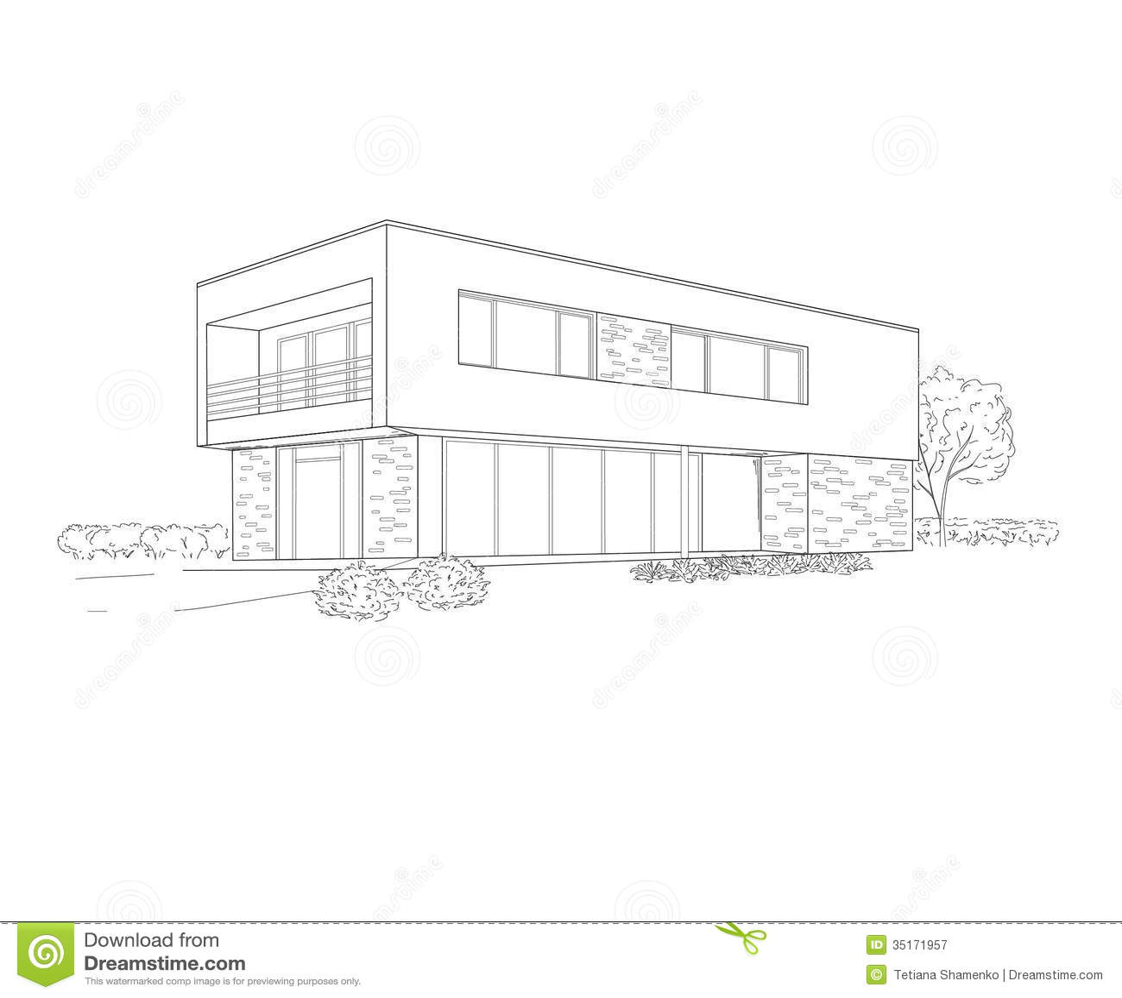 dessin de b timent photographie stock libre de droits image 35171957. Black Bedroom Furniture Sets. Home Design Ideas