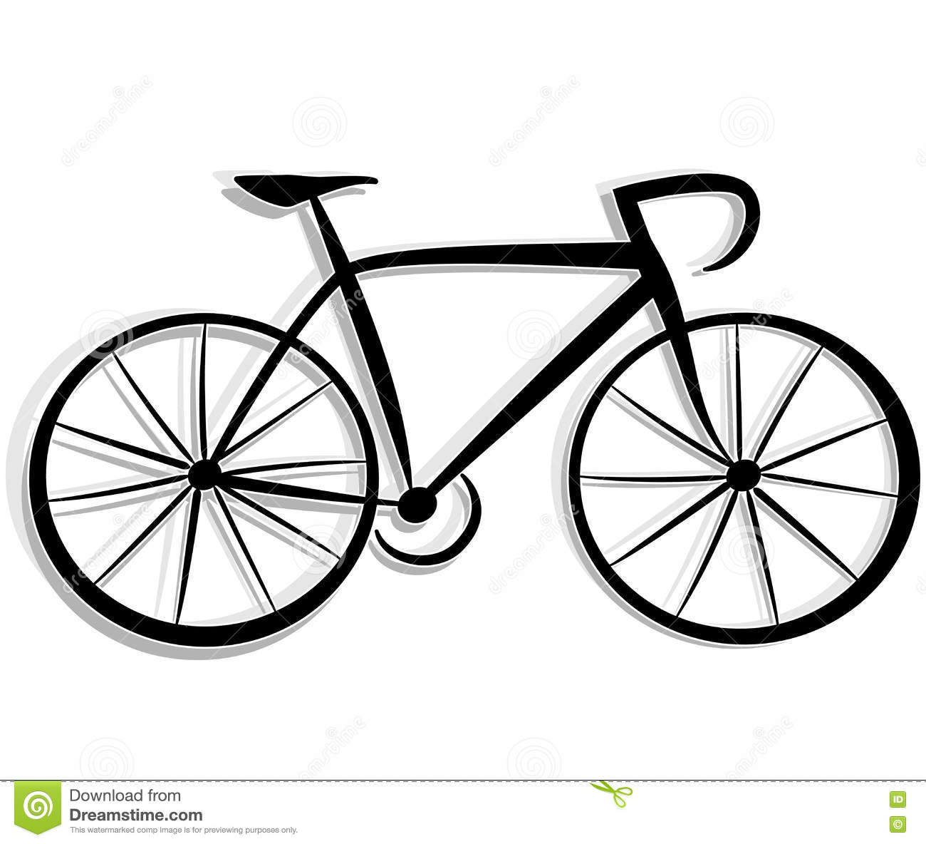 Dessin de bicyclette illustration de vecteur illustration - Bicyclette dessin ...