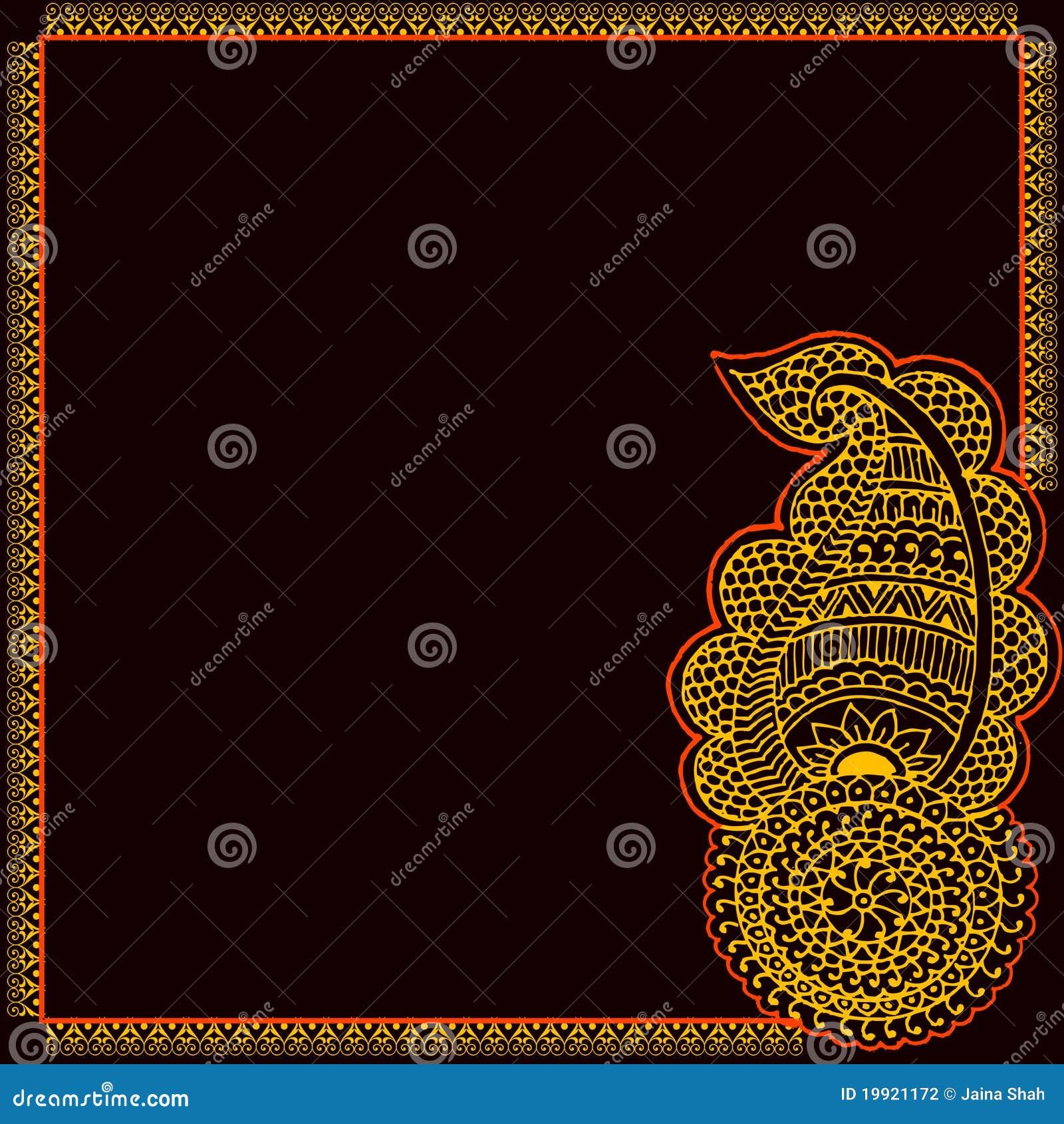 Dessin de carte d 39 invitation illustration de vecteur illustration du cr ateur indien 19921172 - Dessin invitation ...