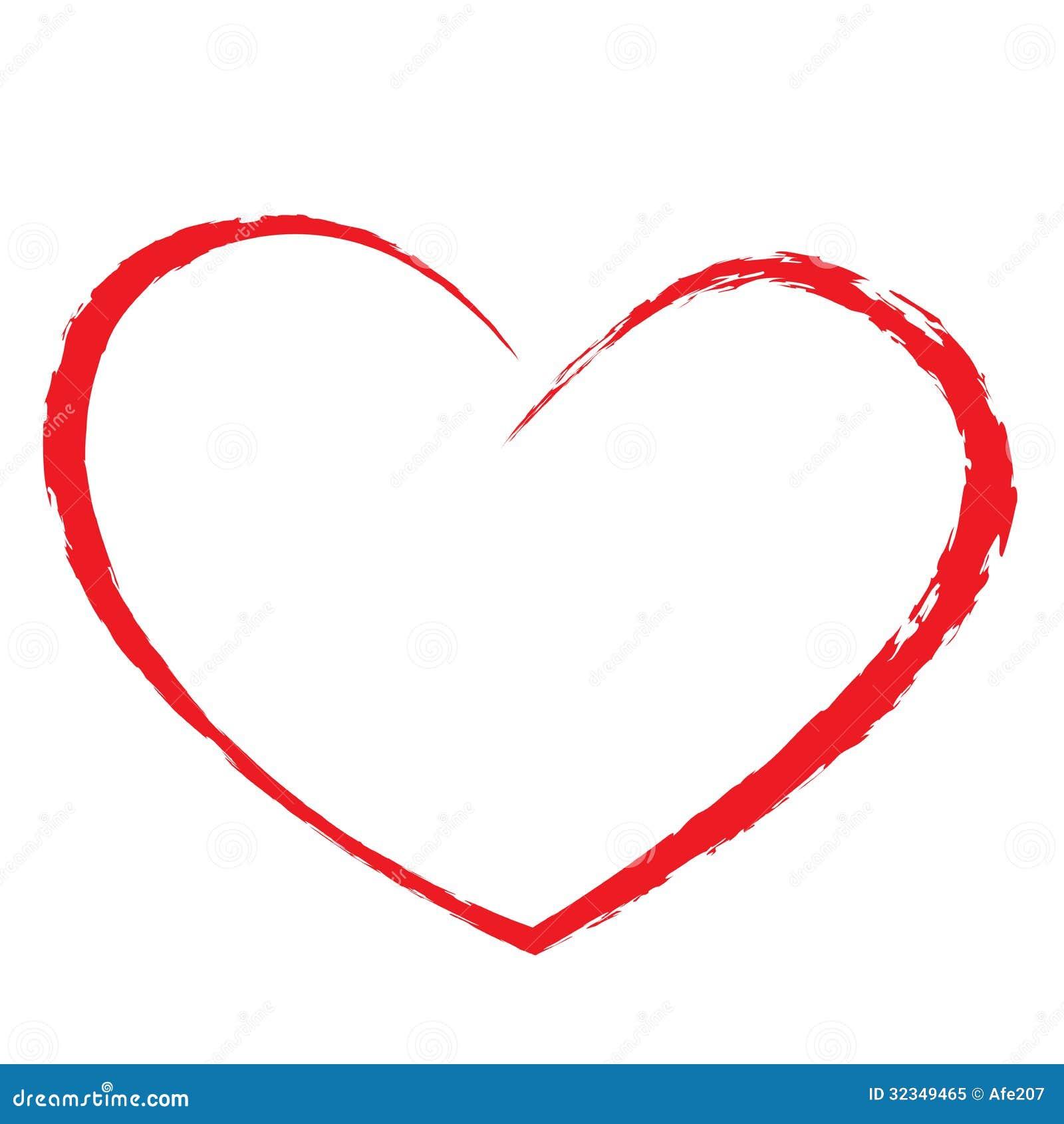 Dessin De Coeur Illustration De Vecteur Illustration Du Fond