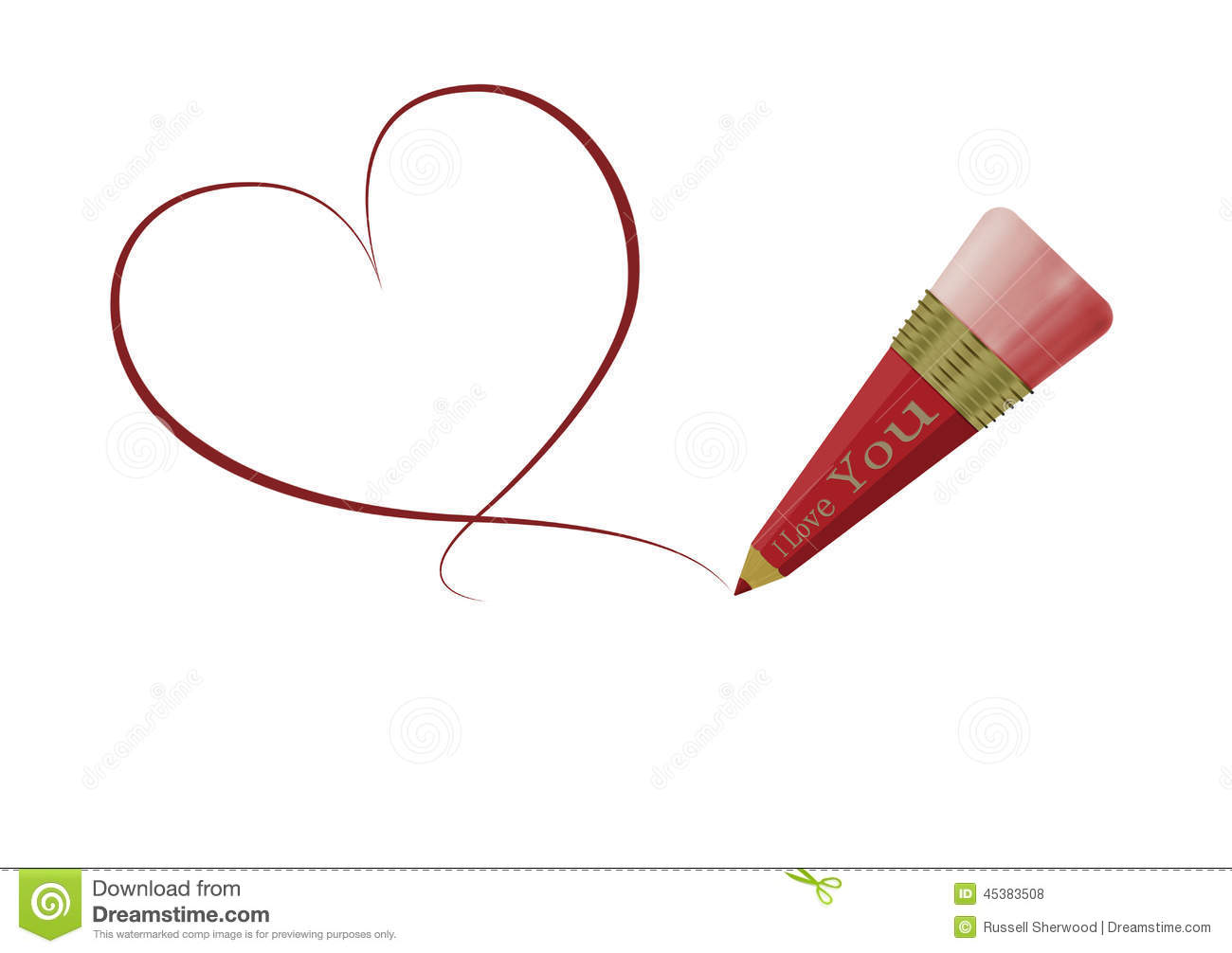 Dessin de coeur d 39 amour illustration stock illustration du amour 45383508 - Un dessin d amour ...