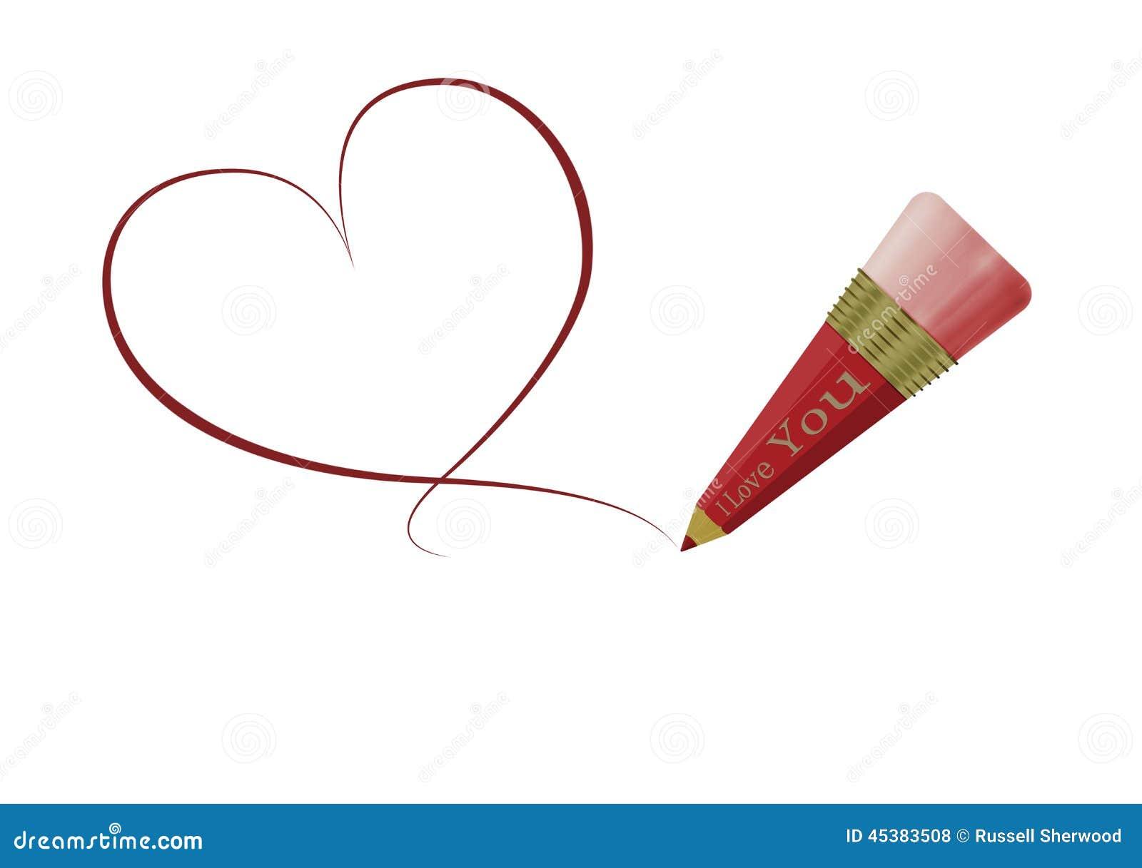 Dessin de coeur d 39 amour illustration stock illustration - Dessin de coeur amoureux ...