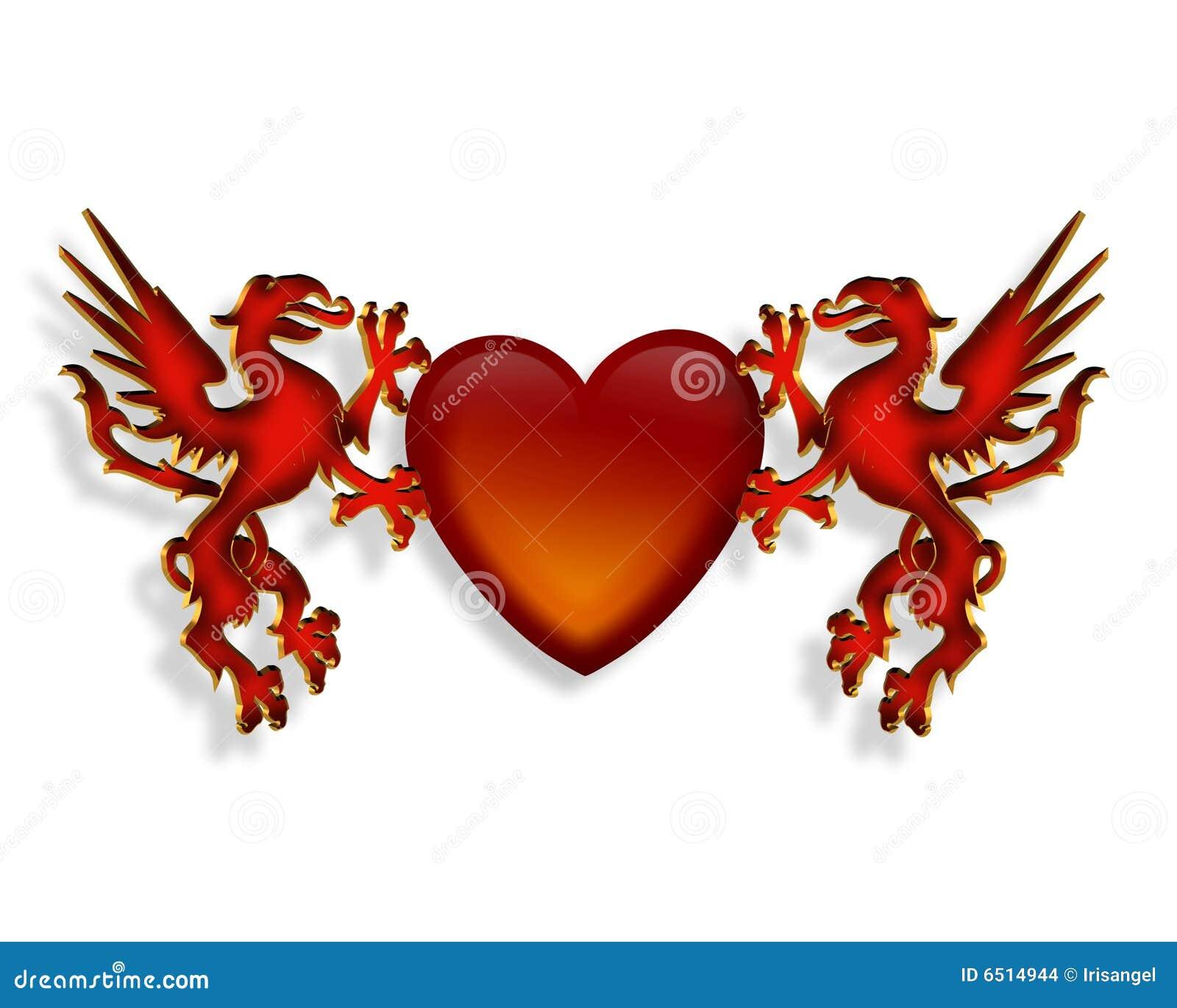 Dessin de coeur et de dragons 3d images stock image 6514944 for Dessin en 3d