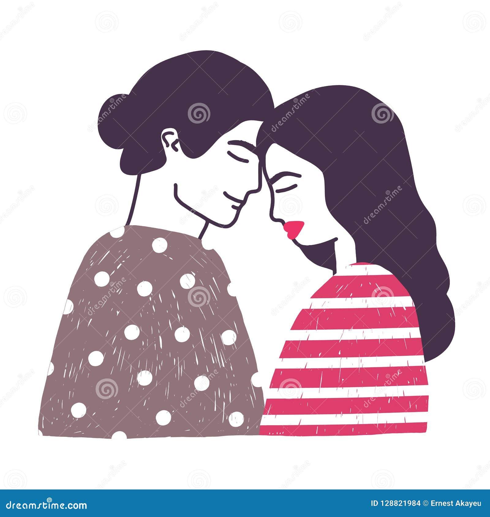 Dessin De Jeunes Couples Ou Paires Romantiques Mignons De L