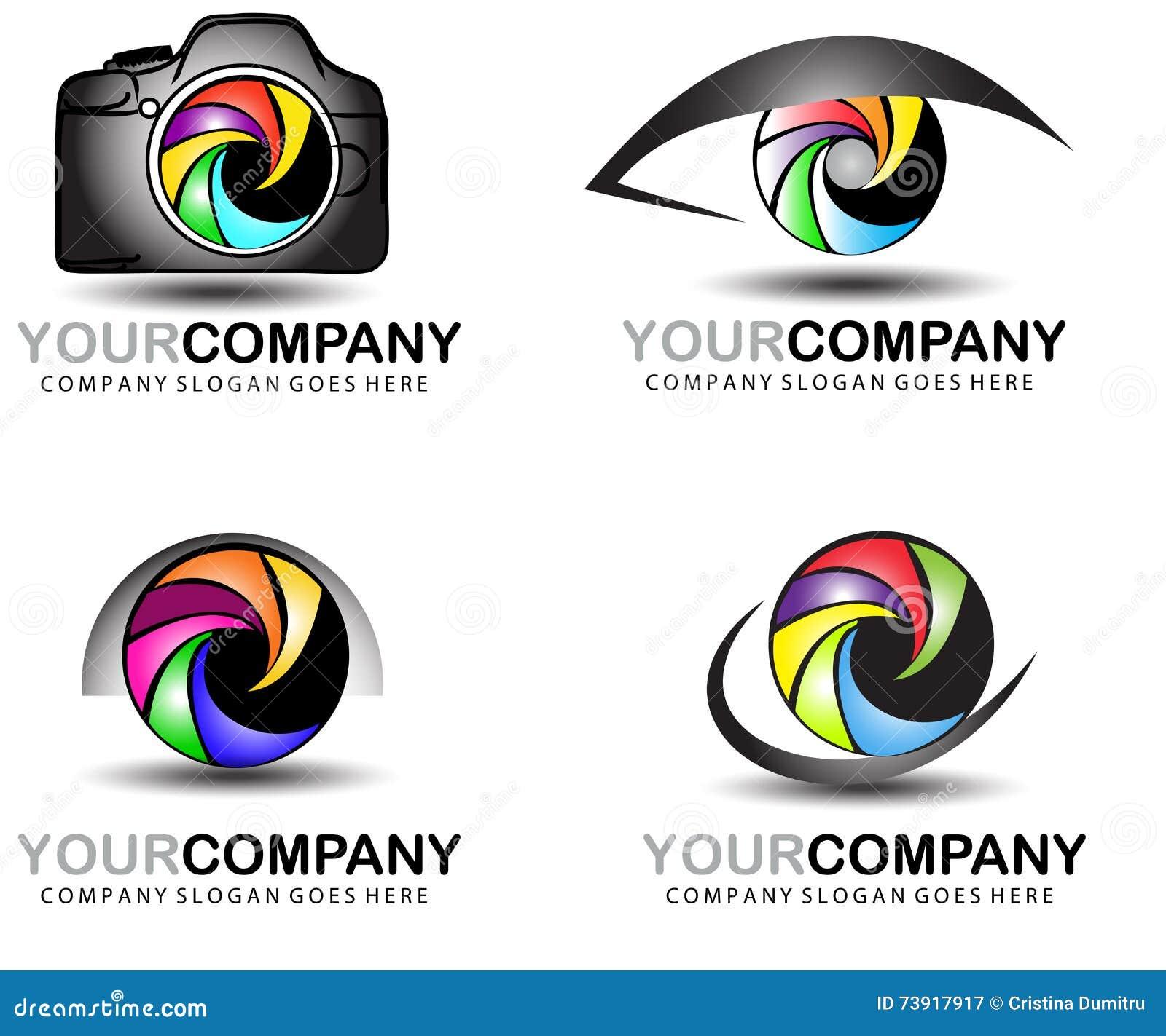 Bien-aimé Dessin De Logo D'appareil-photo Ensemble De Conception De Logo De  LZ24