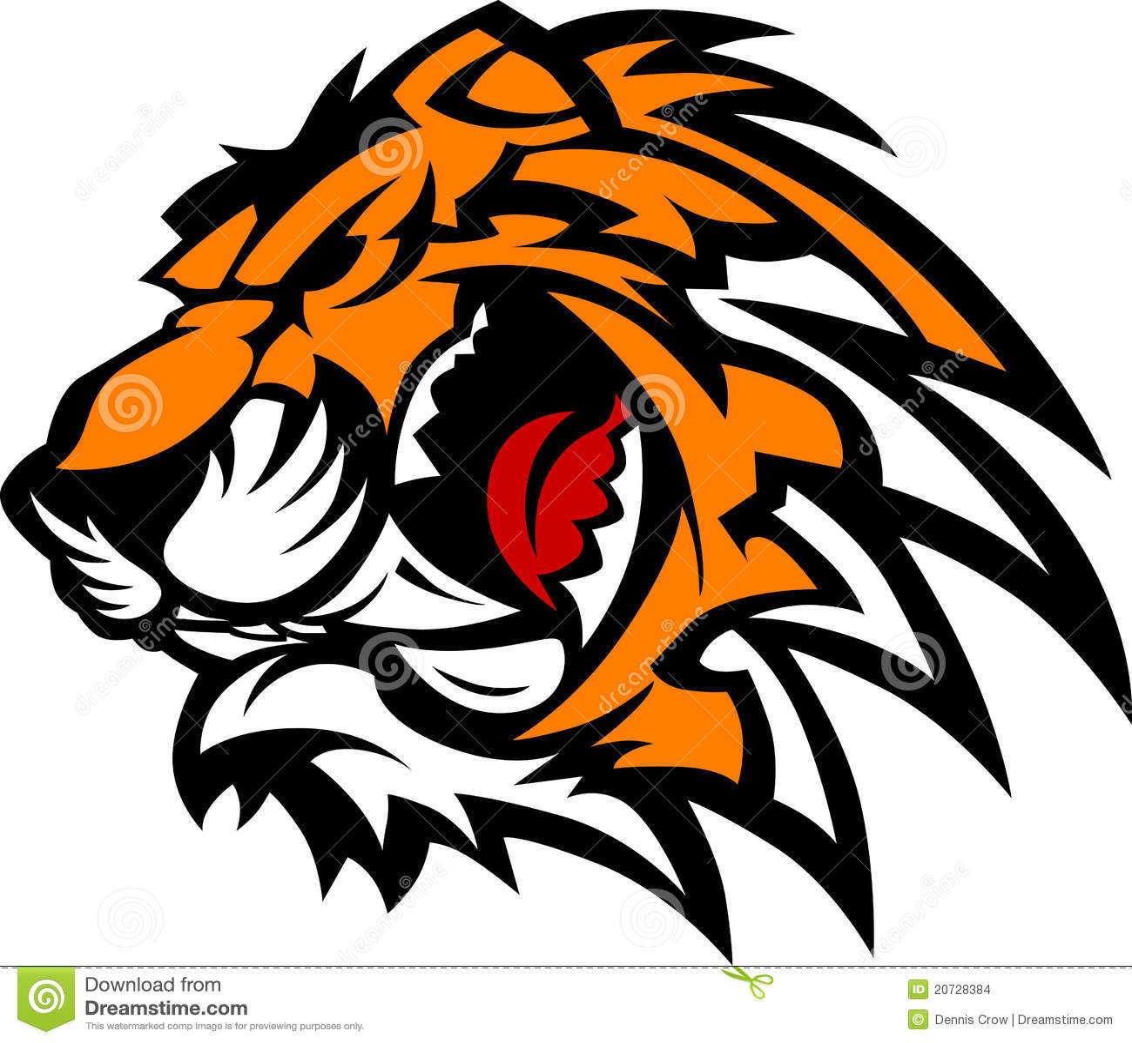 Dessin de mascotte de tigre illustration de vecteur - Image dessin tigre ...