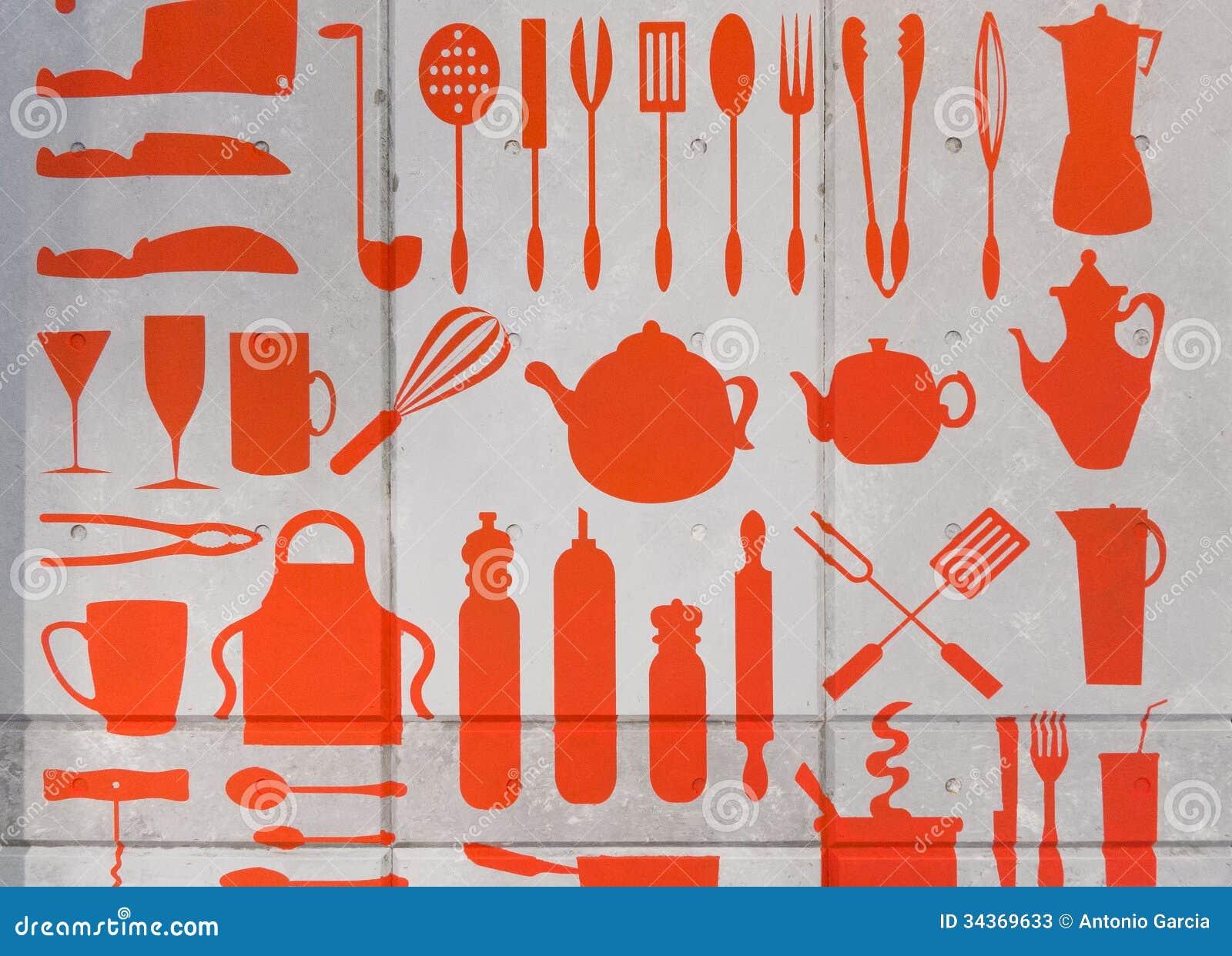 Dessin de mat riel de cuisine photos stock image 34369633 for Achat de materiel de cuisine