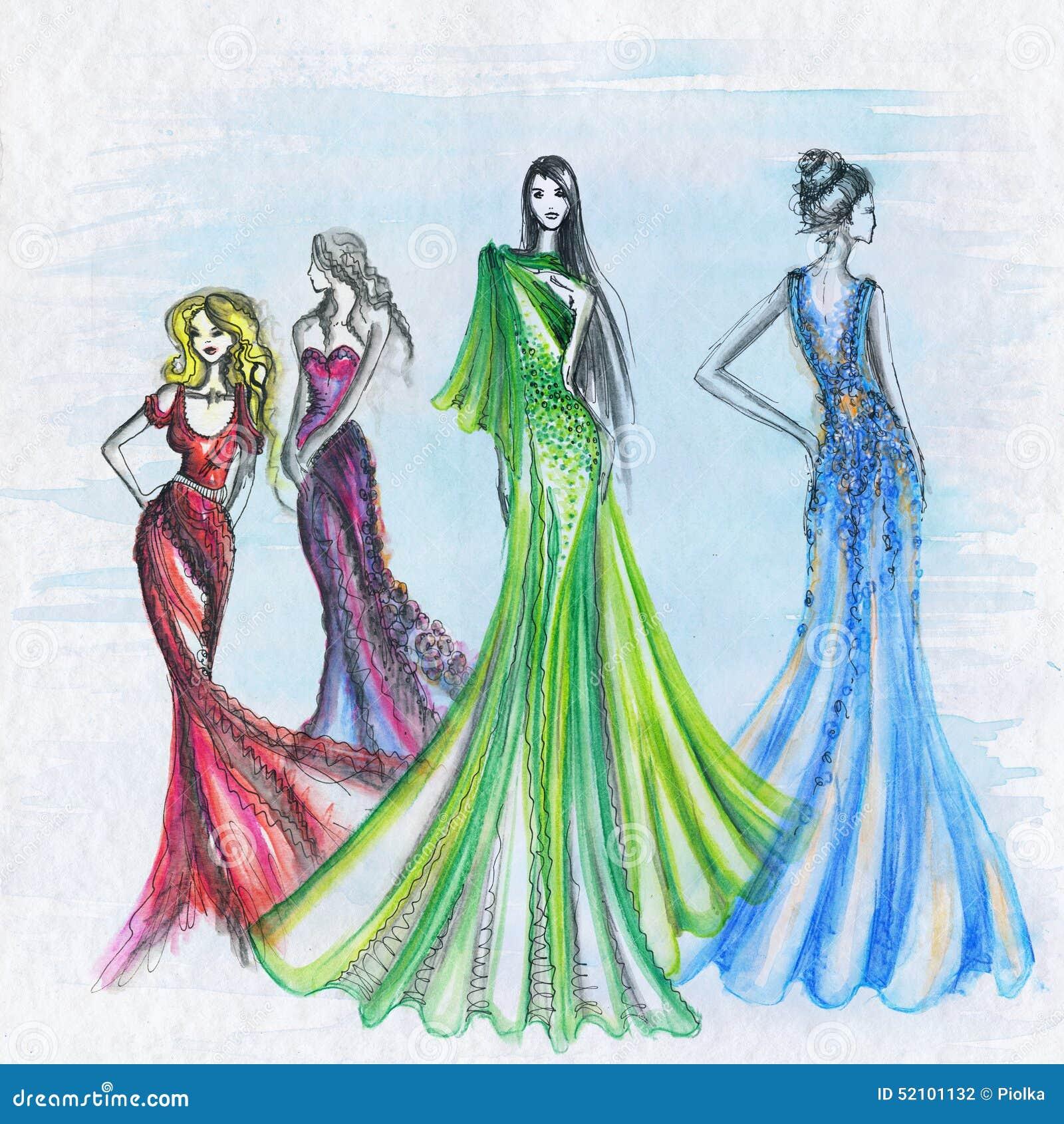 Dessin de mode de femme illustration stock image du fille - Dessin de fille de mode ...
