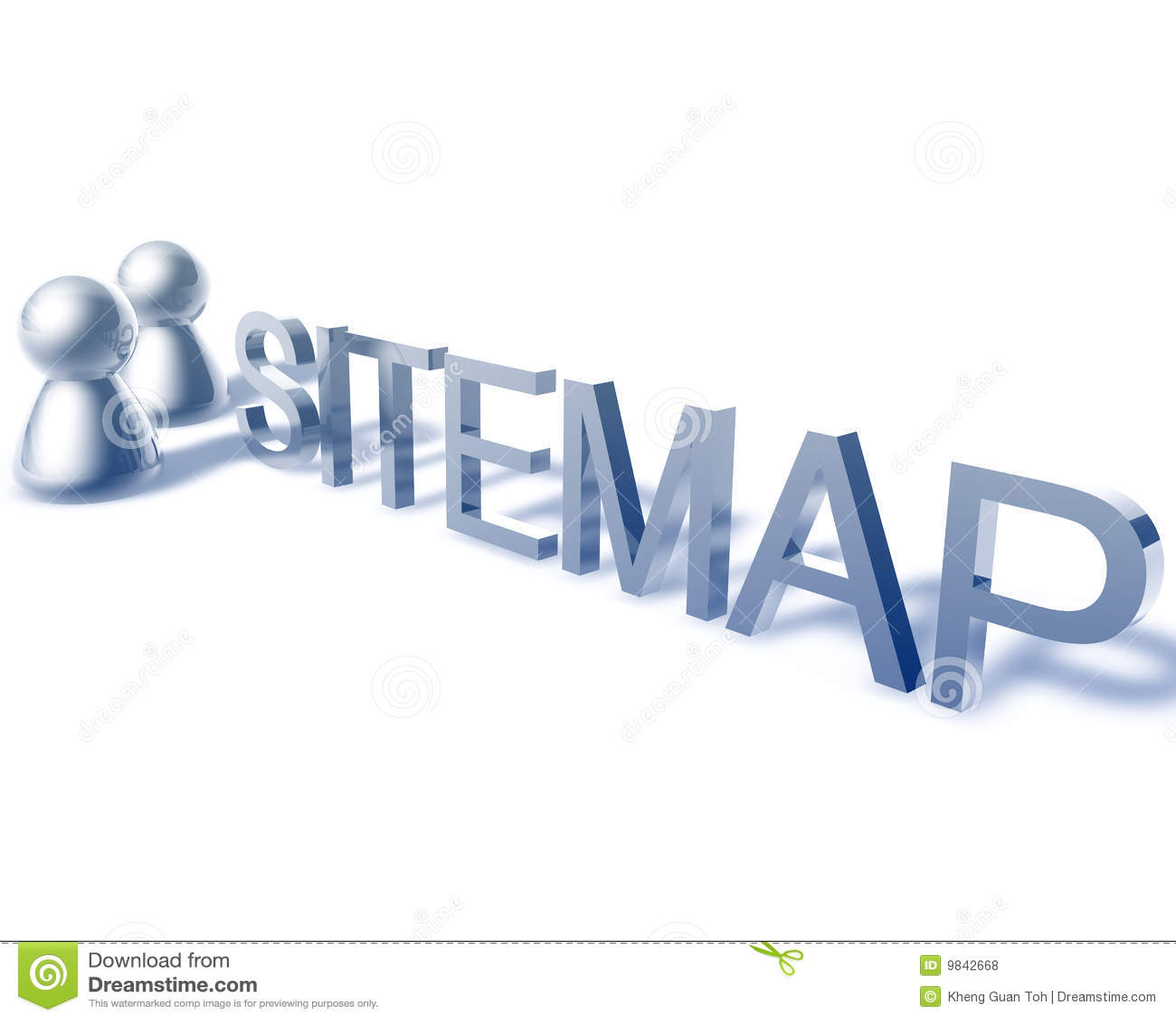 Dessin de mot de Sitemap