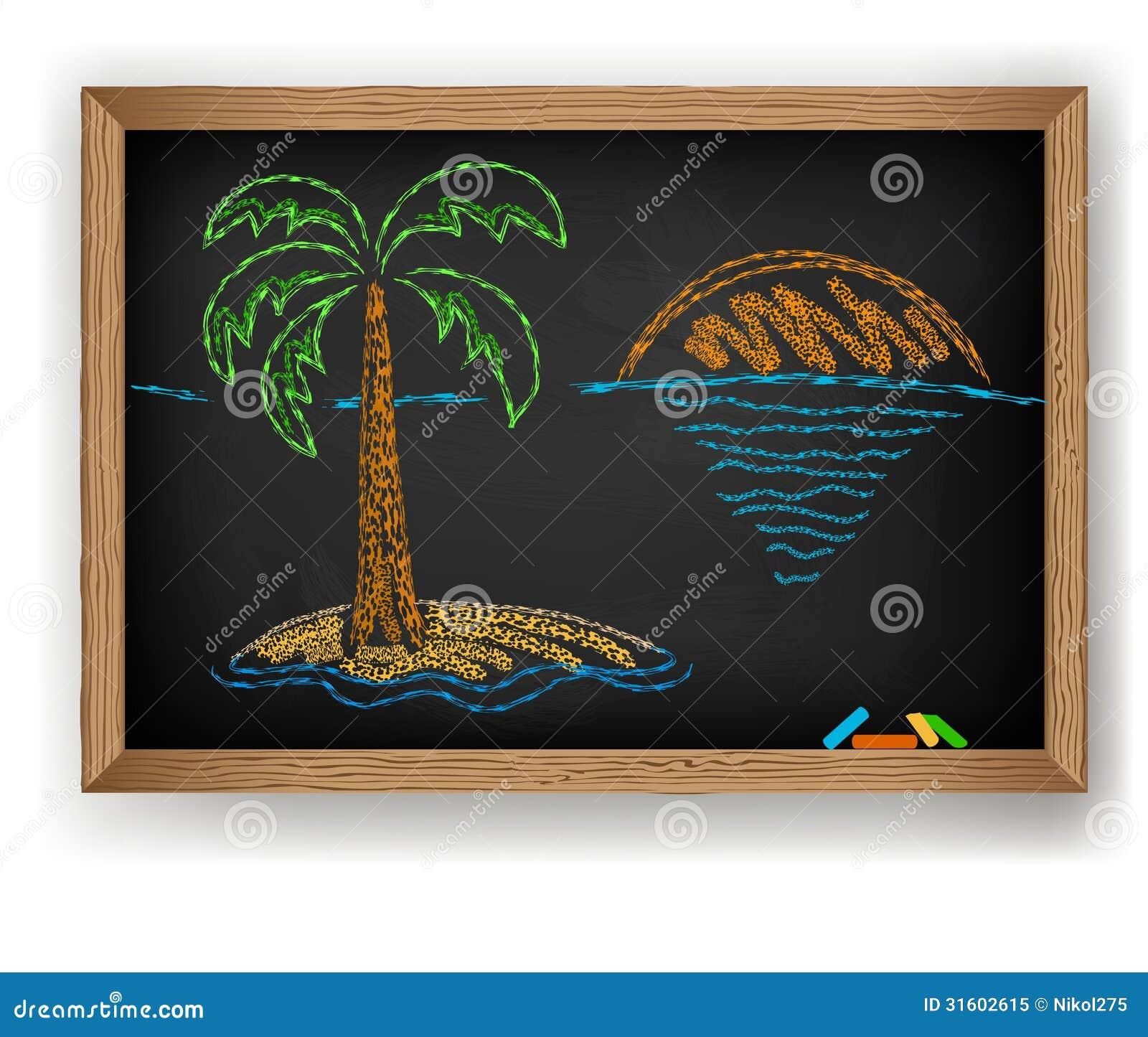 Dessin de palmier illustration de vecteur illustration du arbre 31602615 - Dessin de palmier ...