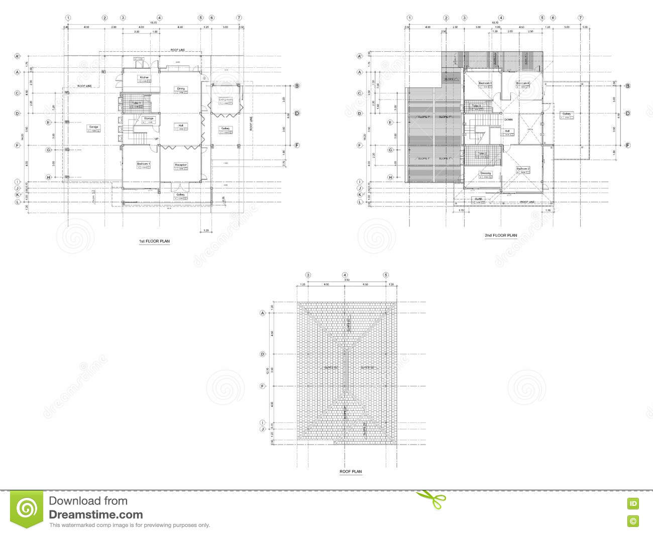 Dessin de plan d 39 architecture illustration stock image for Dessin plan architecture