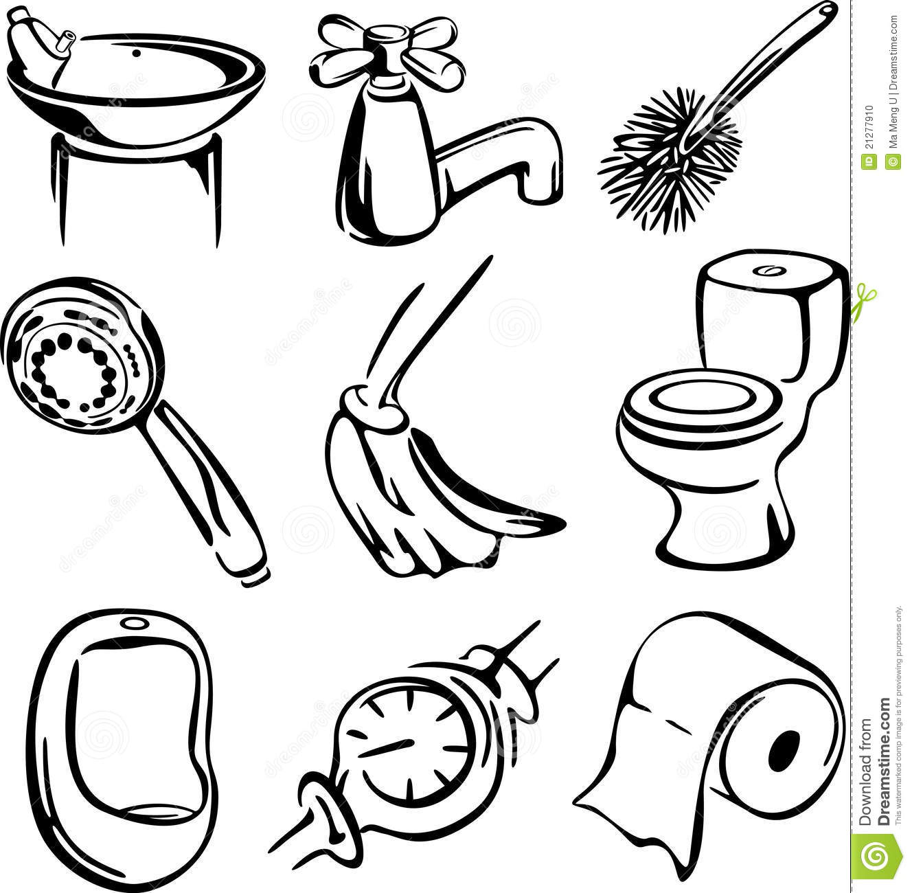 Dessin de positionnement de toilette photo stock image 21277910 - Toilettes noir et blanc ...