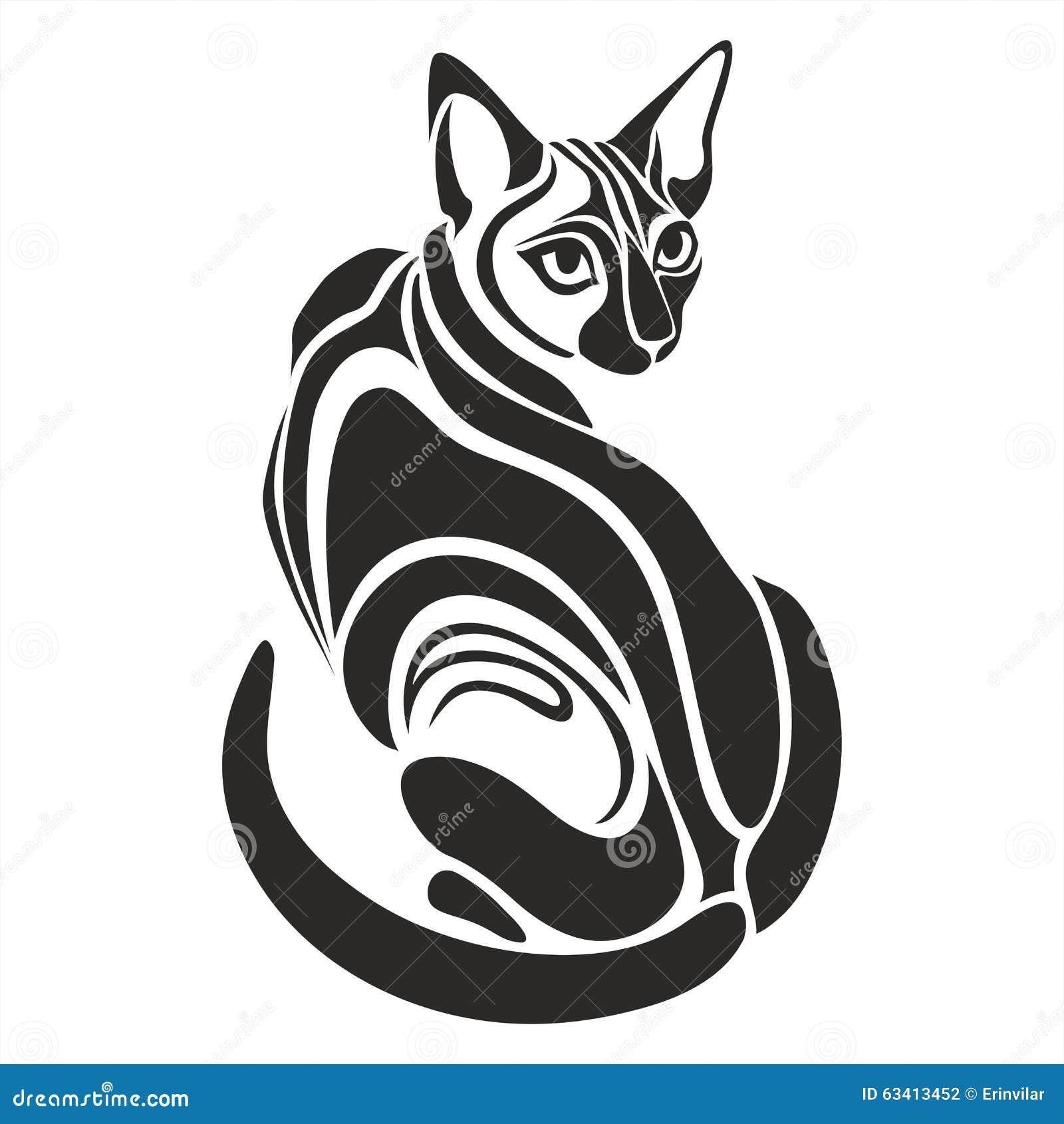 dessin de regard dangereux gyptien de tatouage de chat noir illustration de vecteur image. Black Bedroom Furniture Sets. Home Design Ideas