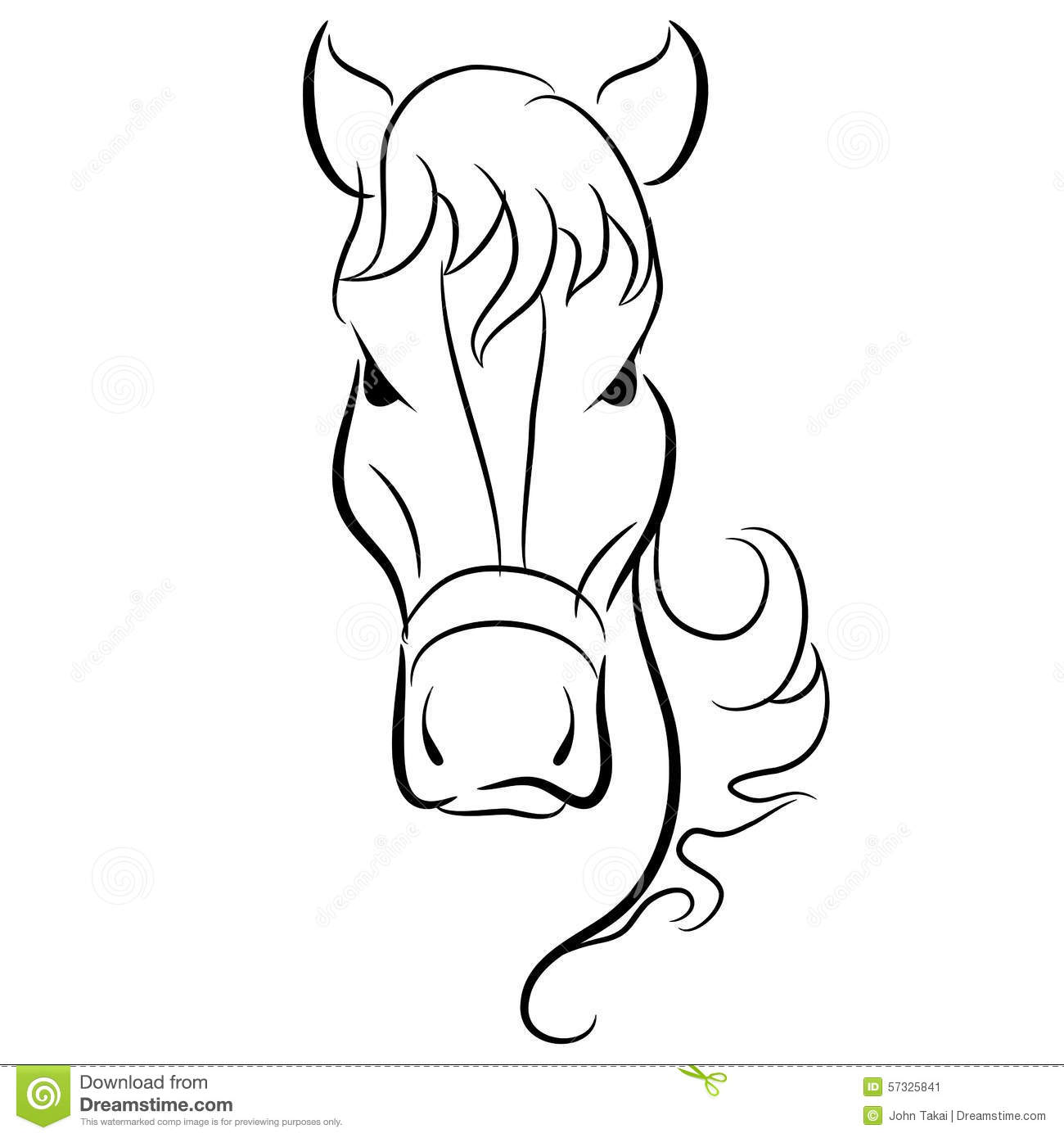 Dessin de t te de cheval illustration de vecteur illustration du t te 57325841 - Dessin de tete de cheval ...
