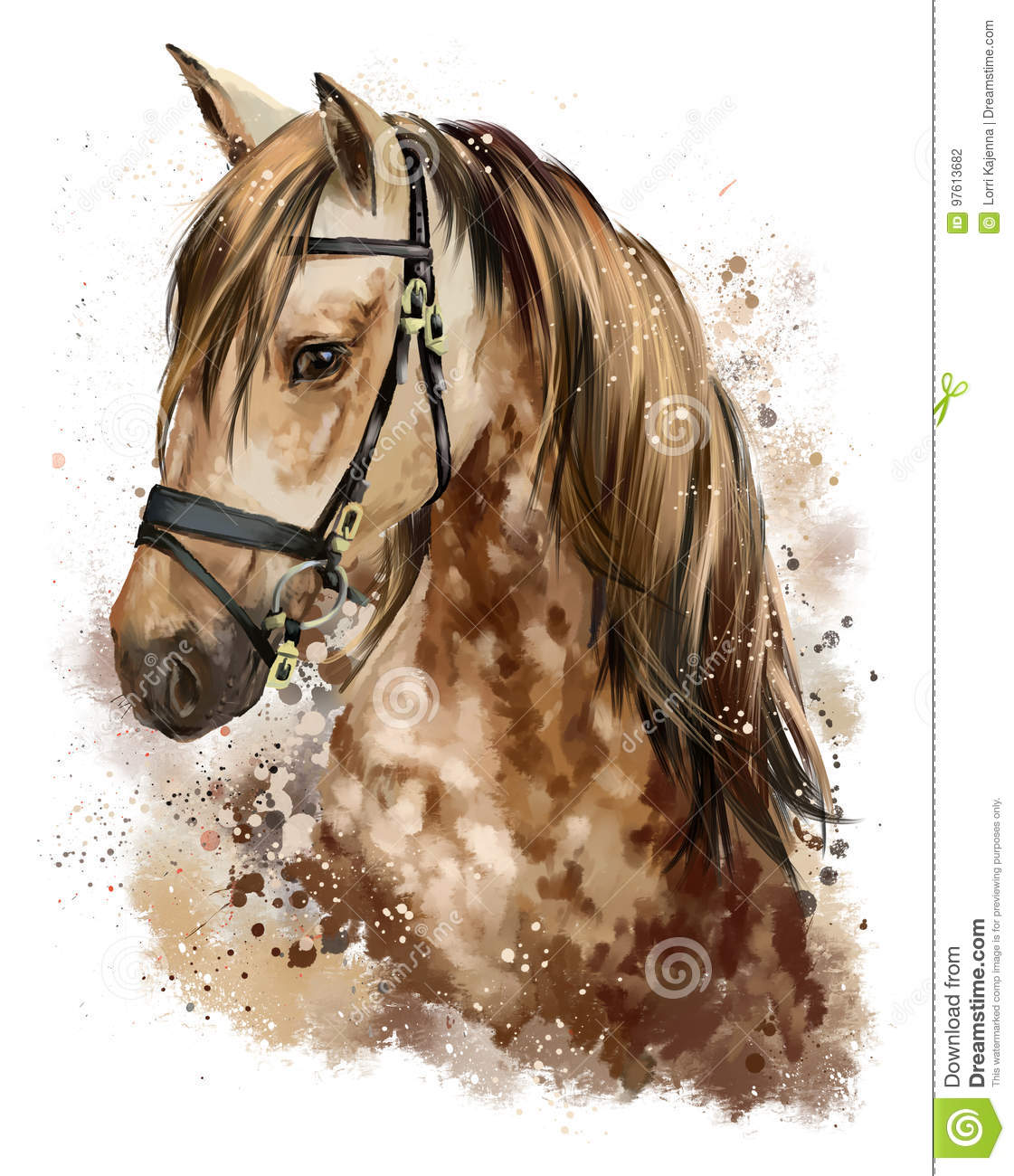 Dessin de t te de cheval illustration stock illustration du nature 97613682 - Dessin de tete de cheval ...