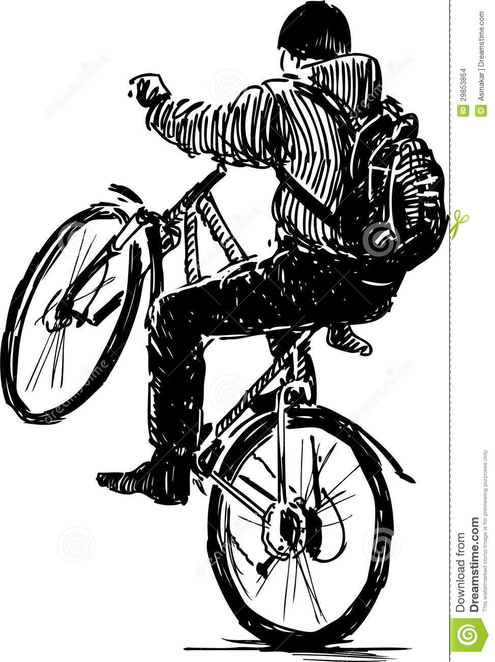 Cycliste actif images stock image 29853864 - Cycliste dessin ...