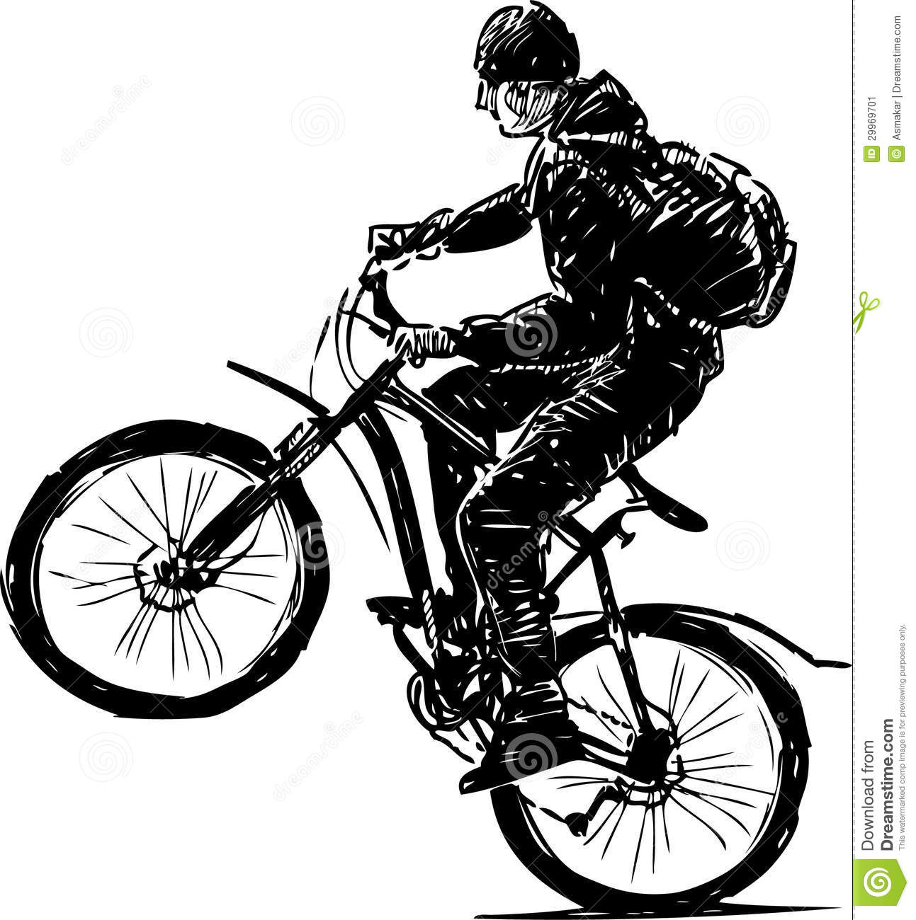 Cycliste image stock image 29969701 - Cycliste dessin ...